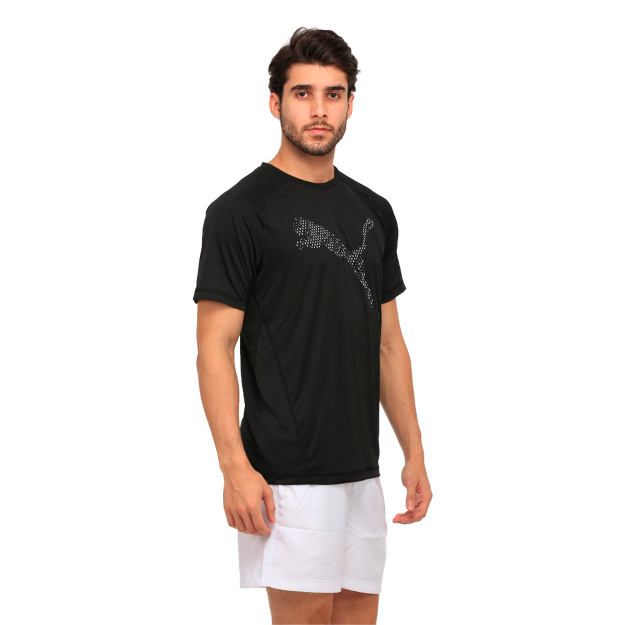 Thumbnail 3 of Active Training Men's Vent Cat T-Shirt, Puma Black, medium-IND