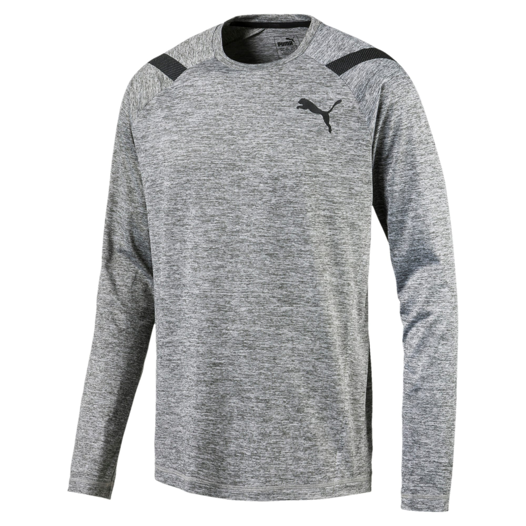 Active Training Men's Bonded Tech Long Sleeve, Medium Gray Heather, large-IND