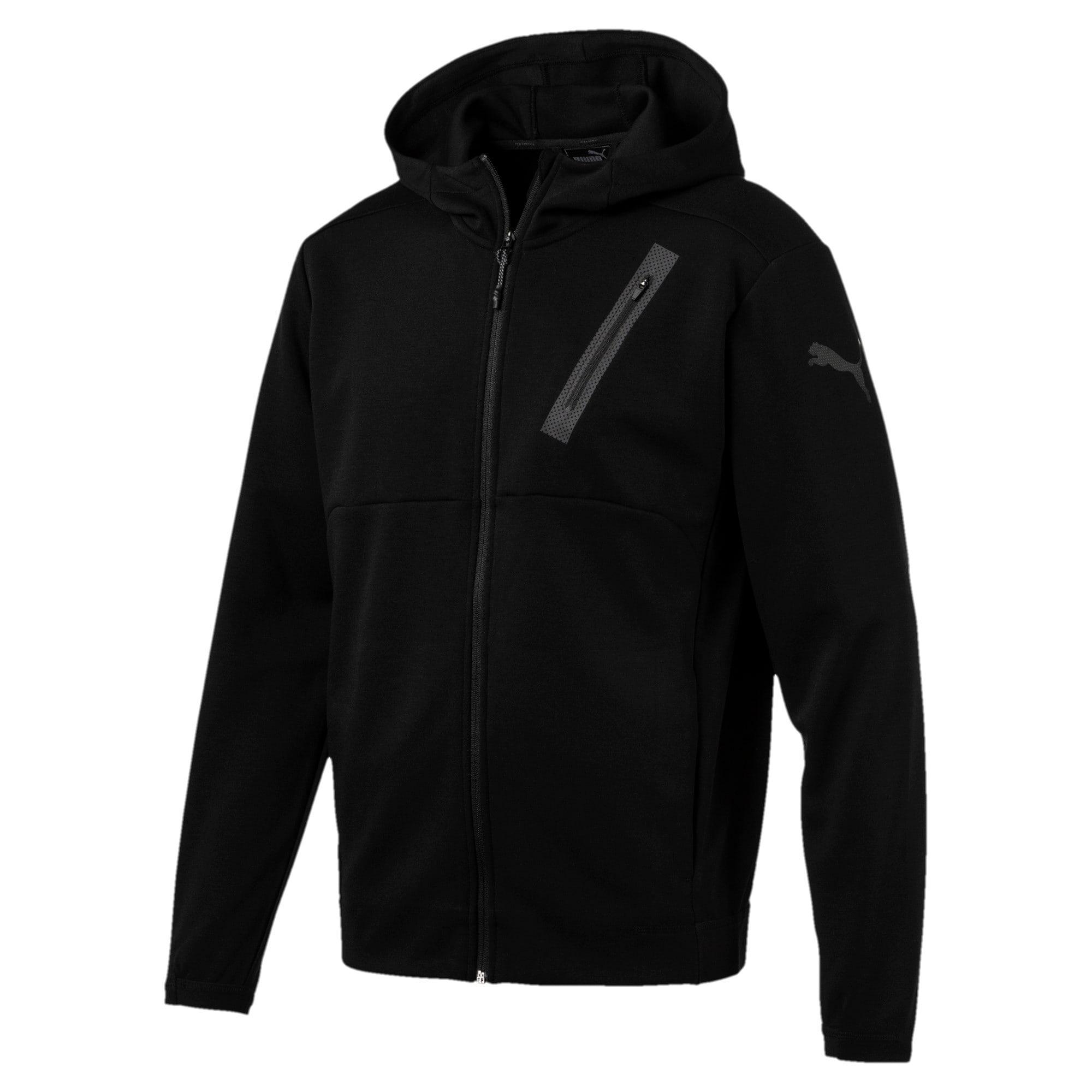 Thumbnail 1 of Active Training Men's Bonded Tech Jacket, Puma Black, medium-IND