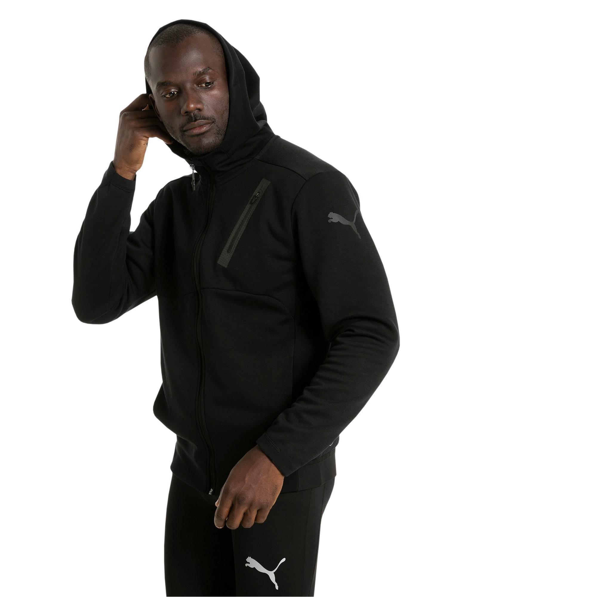 Thumbnail 2 of Active Training Men's Bonded Tech Jacket, Puma Black, medium-IND