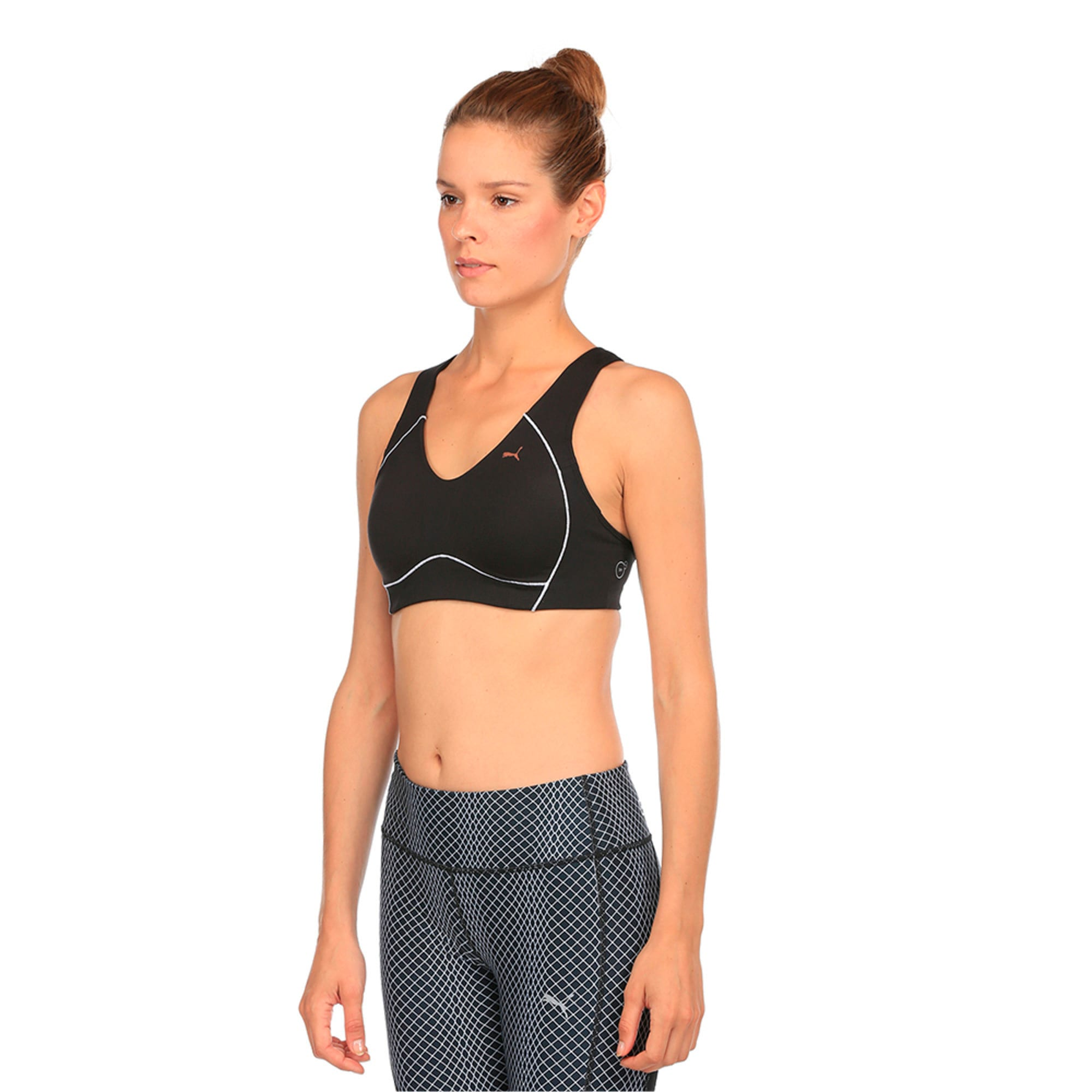 Thumbnail 1 of Training Women's PWRRUN Bra Top, Puma Black, medium-IND