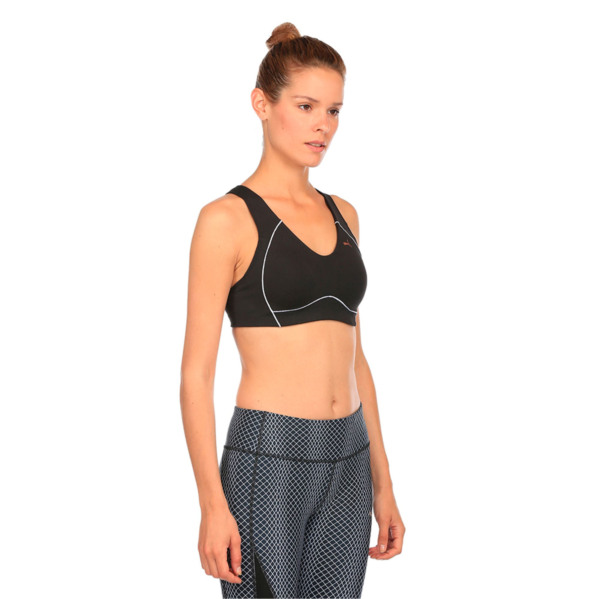 Thumbnail 3 of Training Women's PWRRUN Bra Top, Puma Black, medium-IND