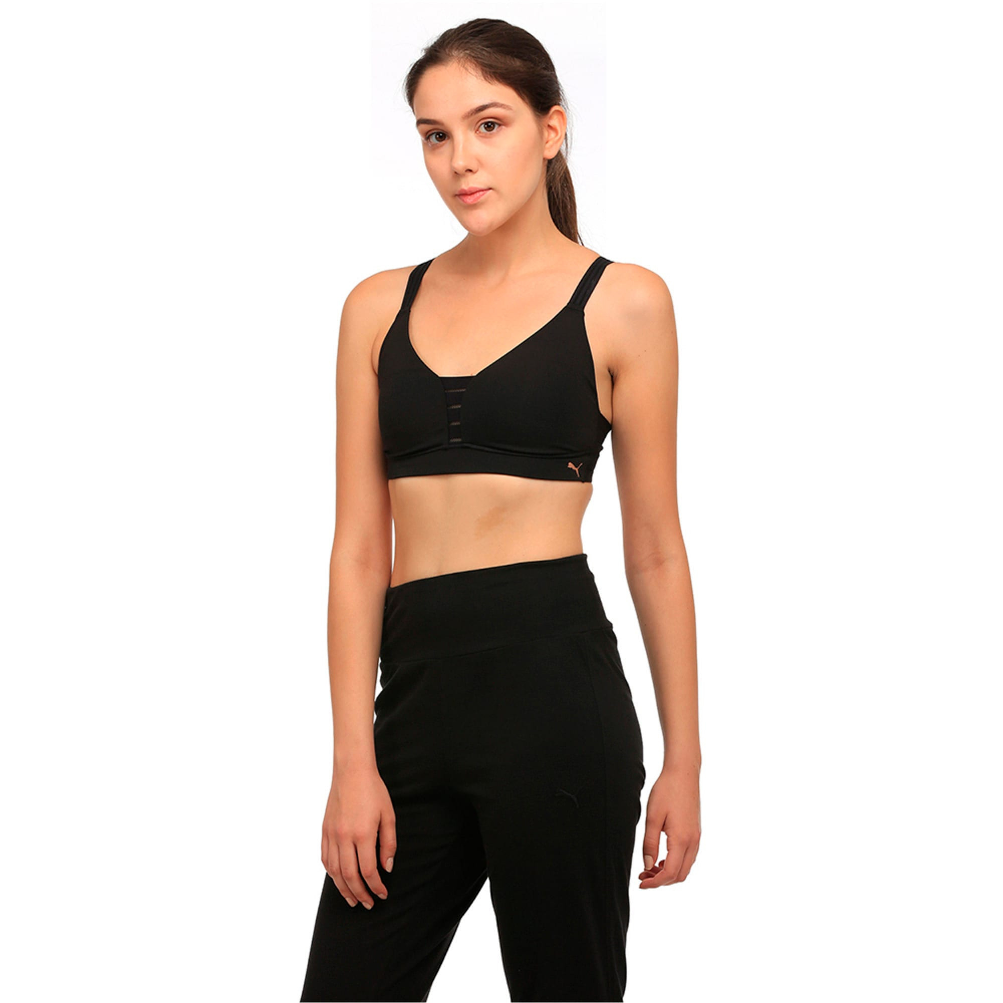 Thumbnail 2 of Training Women's Yogini Show Off Bra Top, Puma Black, medium-IND