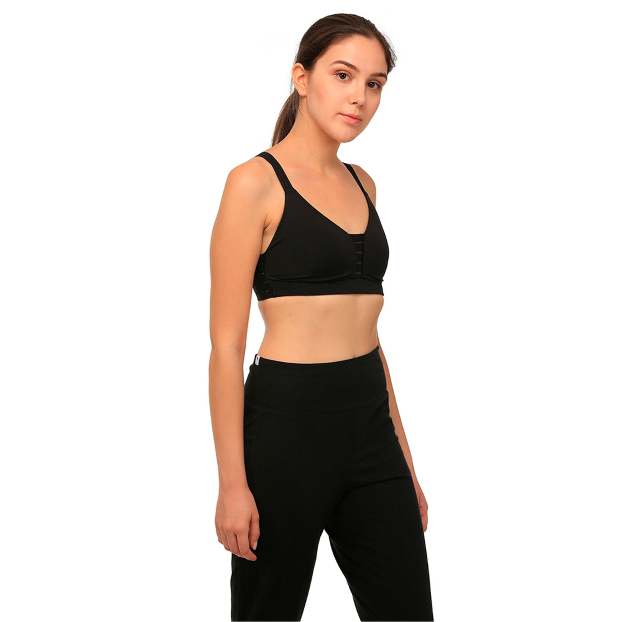 Thumbnail 3 of Training Women's Yogini Show Off Bra Top, Puma Black, medium-IND