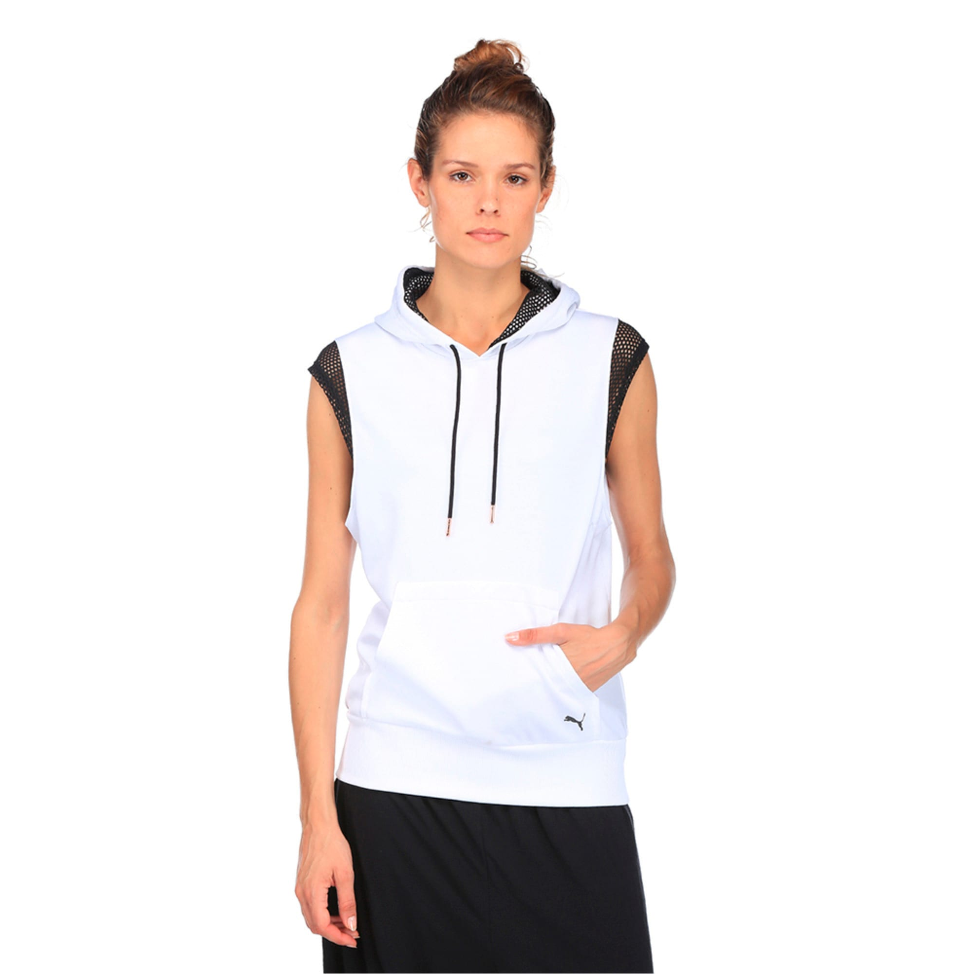 Thumbnail 2 of Active Training Women's Explosive Sleeveless Hoodie, Puma White, medium-IND
