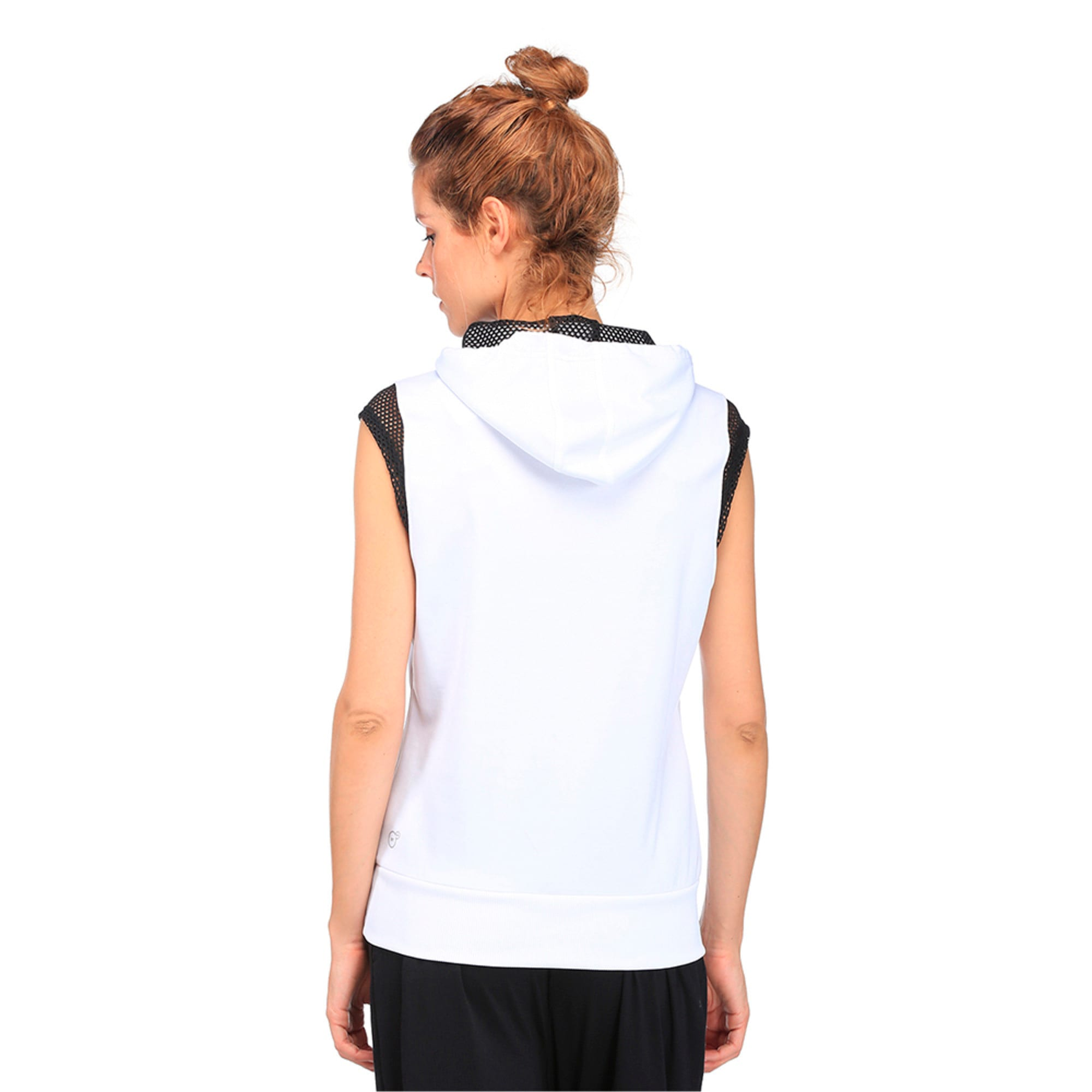 Thumbnail 3 of Active Training Women's Explosive Sleeveless Hoodie, Puma White, medium-IND