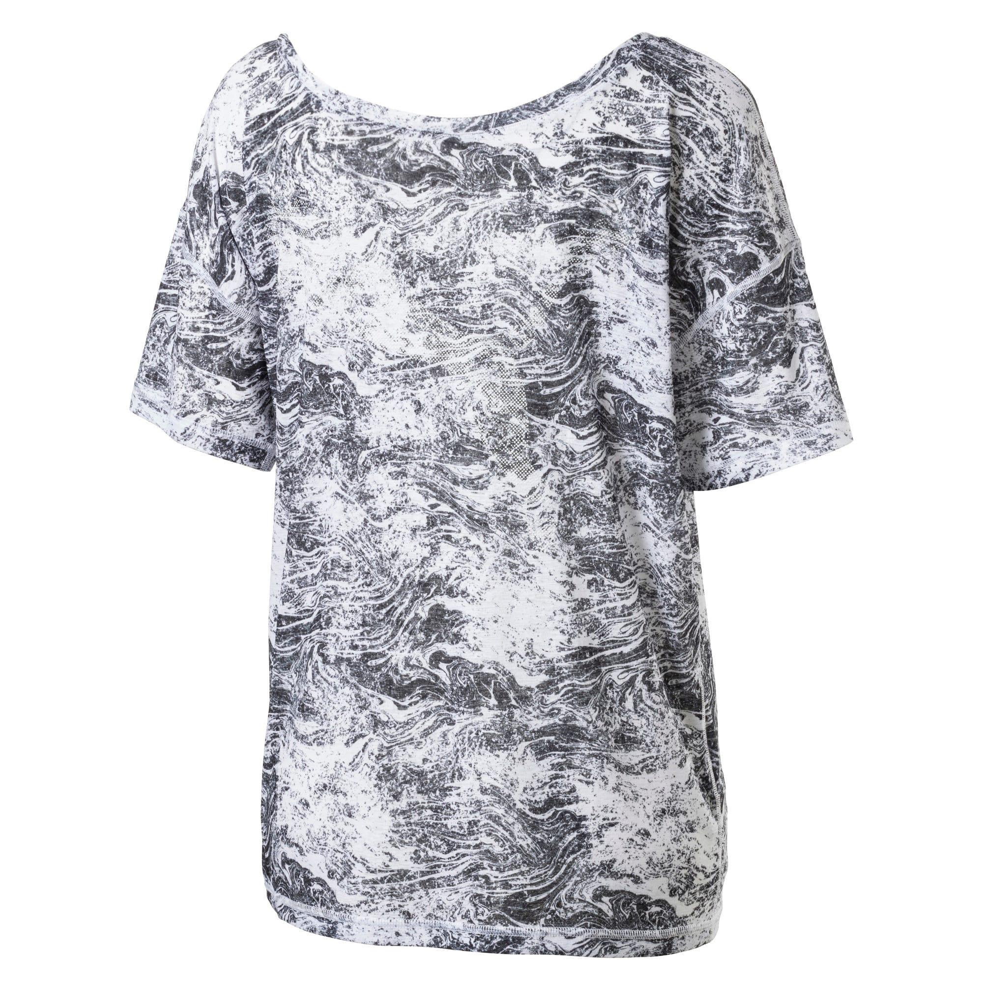 Thumbnail 5 of Active Training Women's Dancer Drapey T-Shirt, -white black nature prt, medium-IND