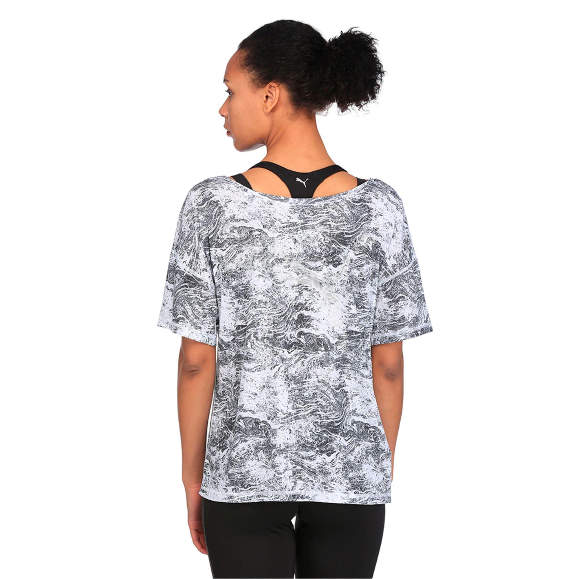 Thumbnail 3 of Active Training Women's Dancer Drapey T-Shirt, -white black nature prt, medium-IND