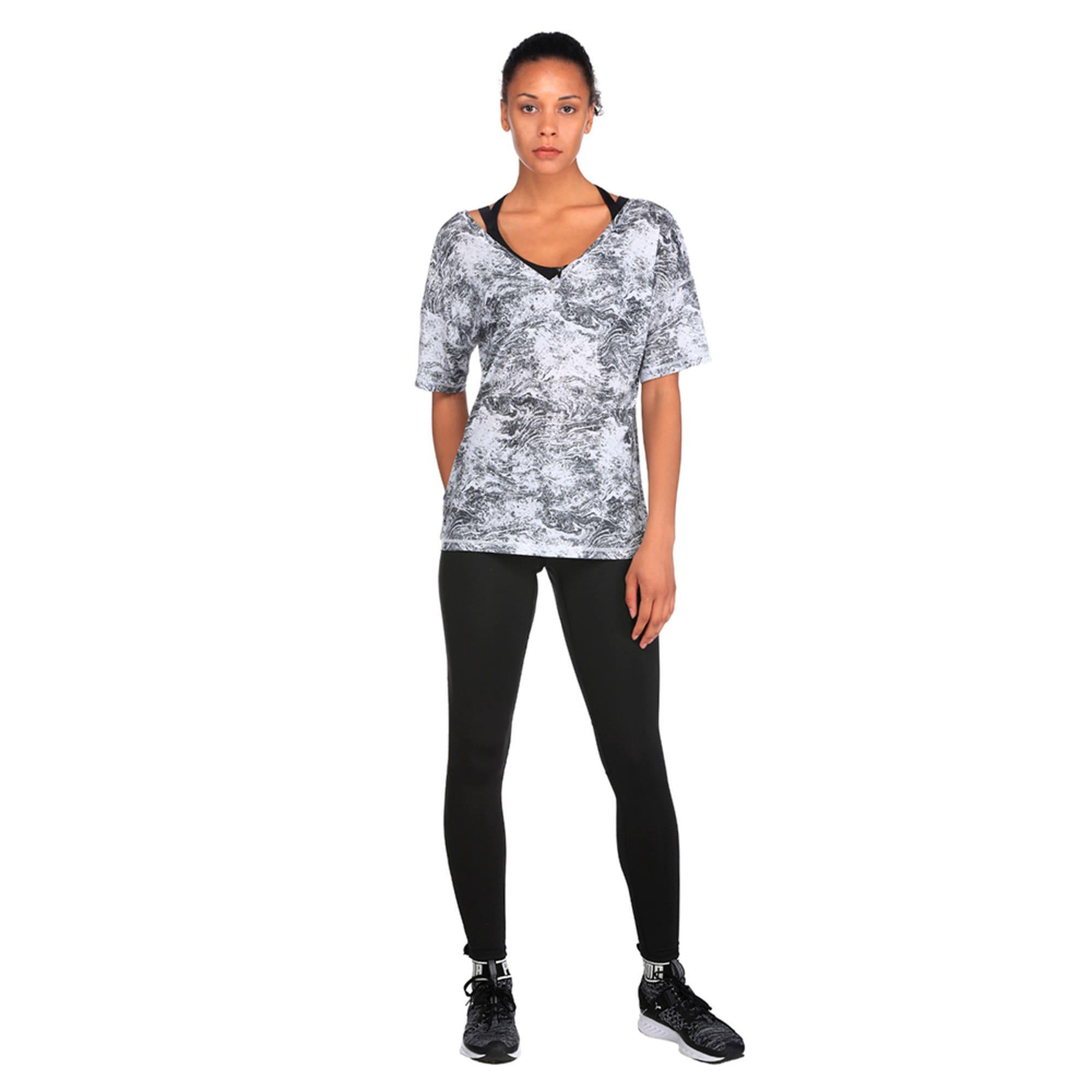 Thumbnail 4 of Active Training Women's Dancer Drapey T-Shirt, -white black nature prt, medium-IND