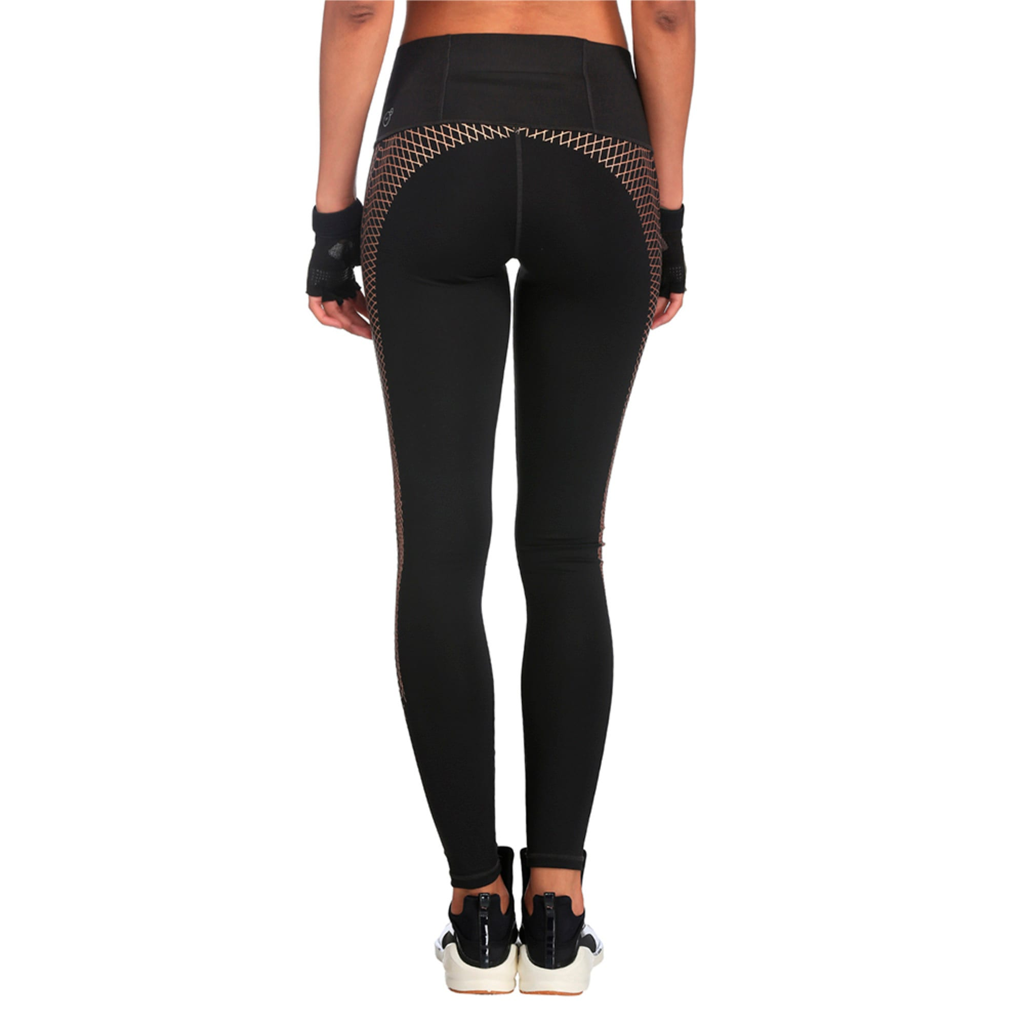 Thumbnail 3 of Active Training Women's Everyday Train Graphic Tights, Puma Black-Copper lacing prt, medium-IND