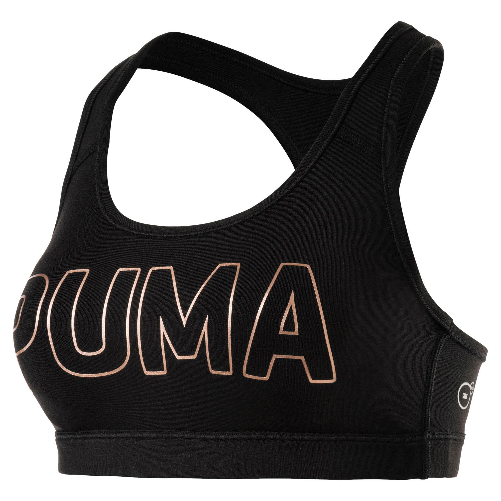 Thumbnail 1 of Training Women's PWRSHAPE Forever Padded Logo Bra Top, Puma Black-PUMA, medium-IND
