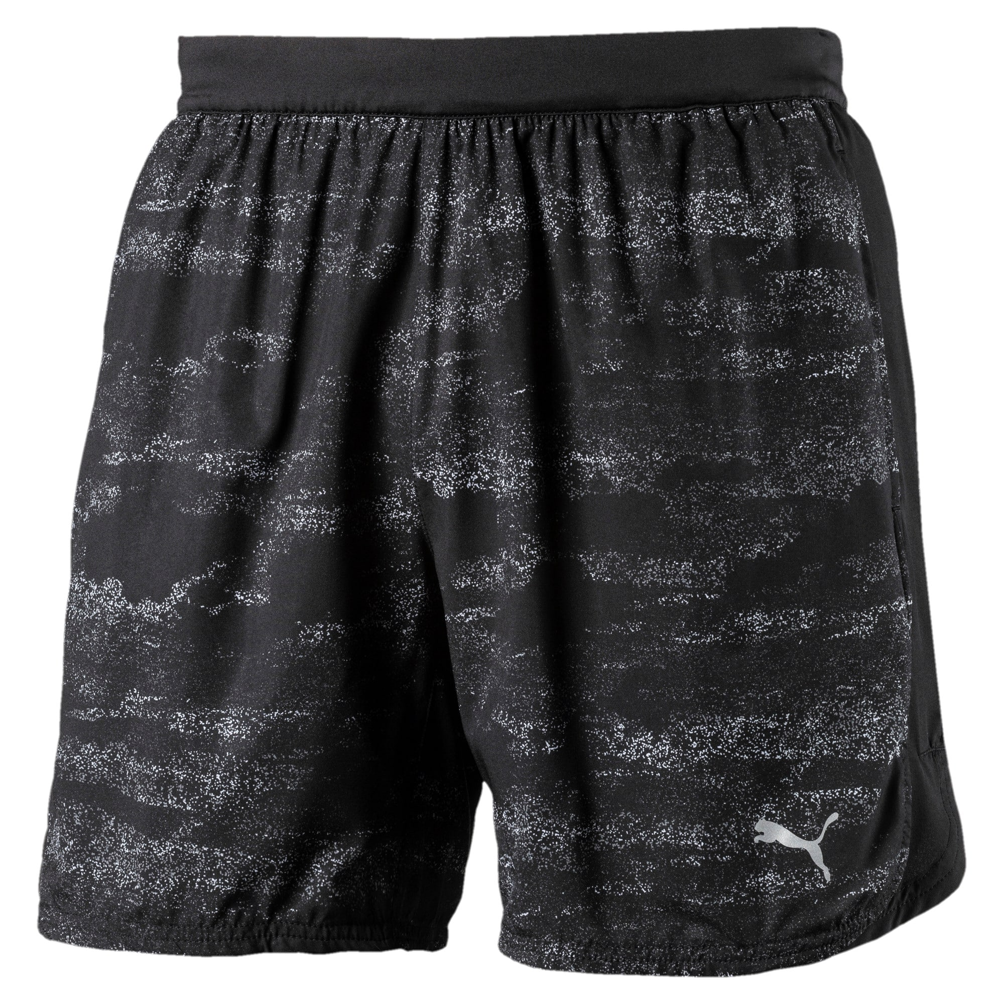 Thumbnail 1 of Running Men's Nocturnal Pace Shorts, Puma Black-new graphic, medium-IND