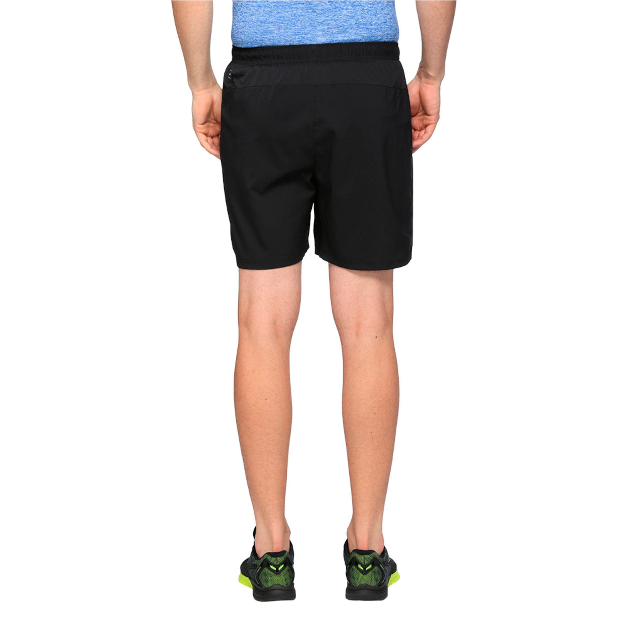 "Thumbnail 5 of Core-Run 7"" Shorts, Puma Black, medium-IND"