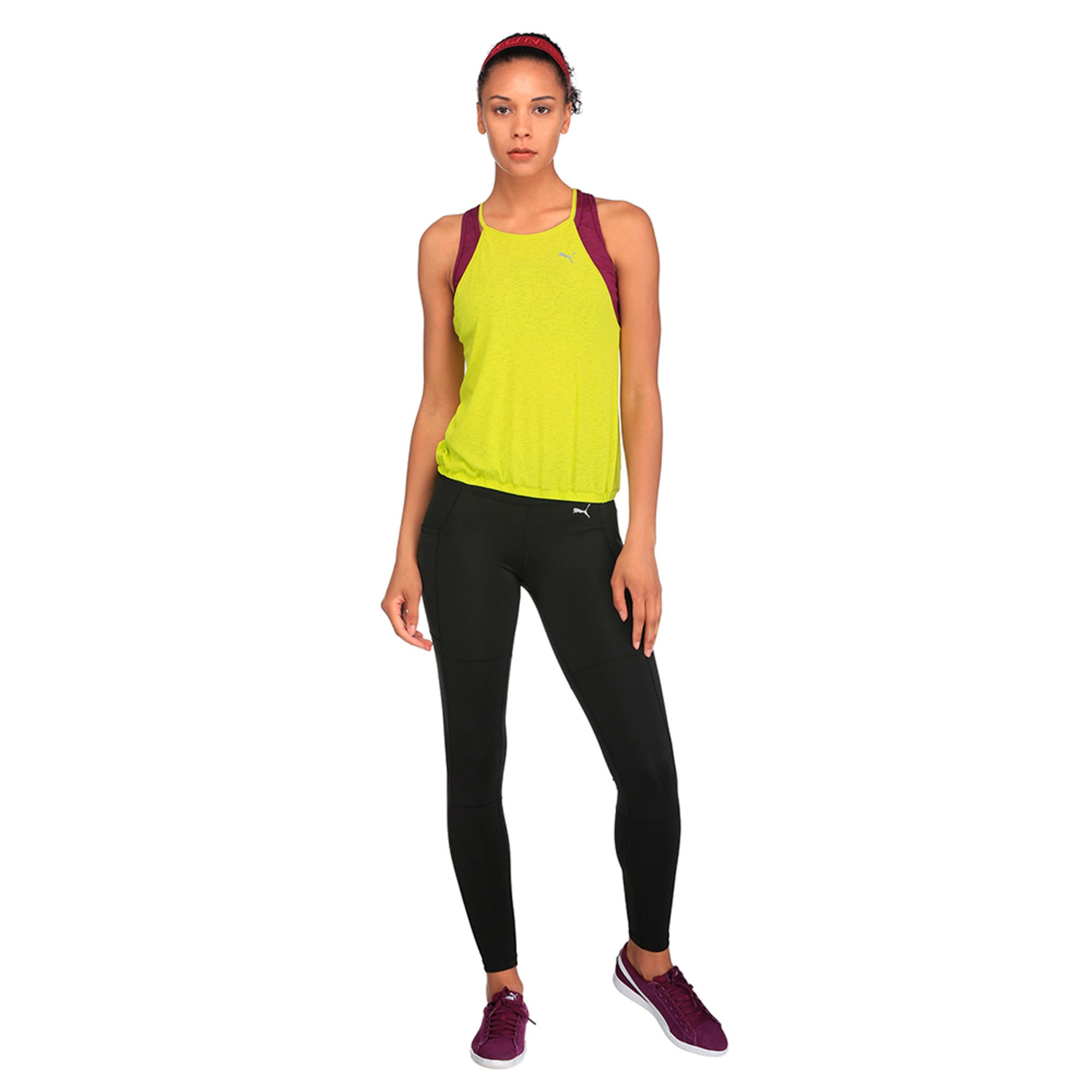 Thumbnail 3 of Active Training Women's Dancer Drapey Solid Tank Top, Nrgy Yellow, medium-IND
