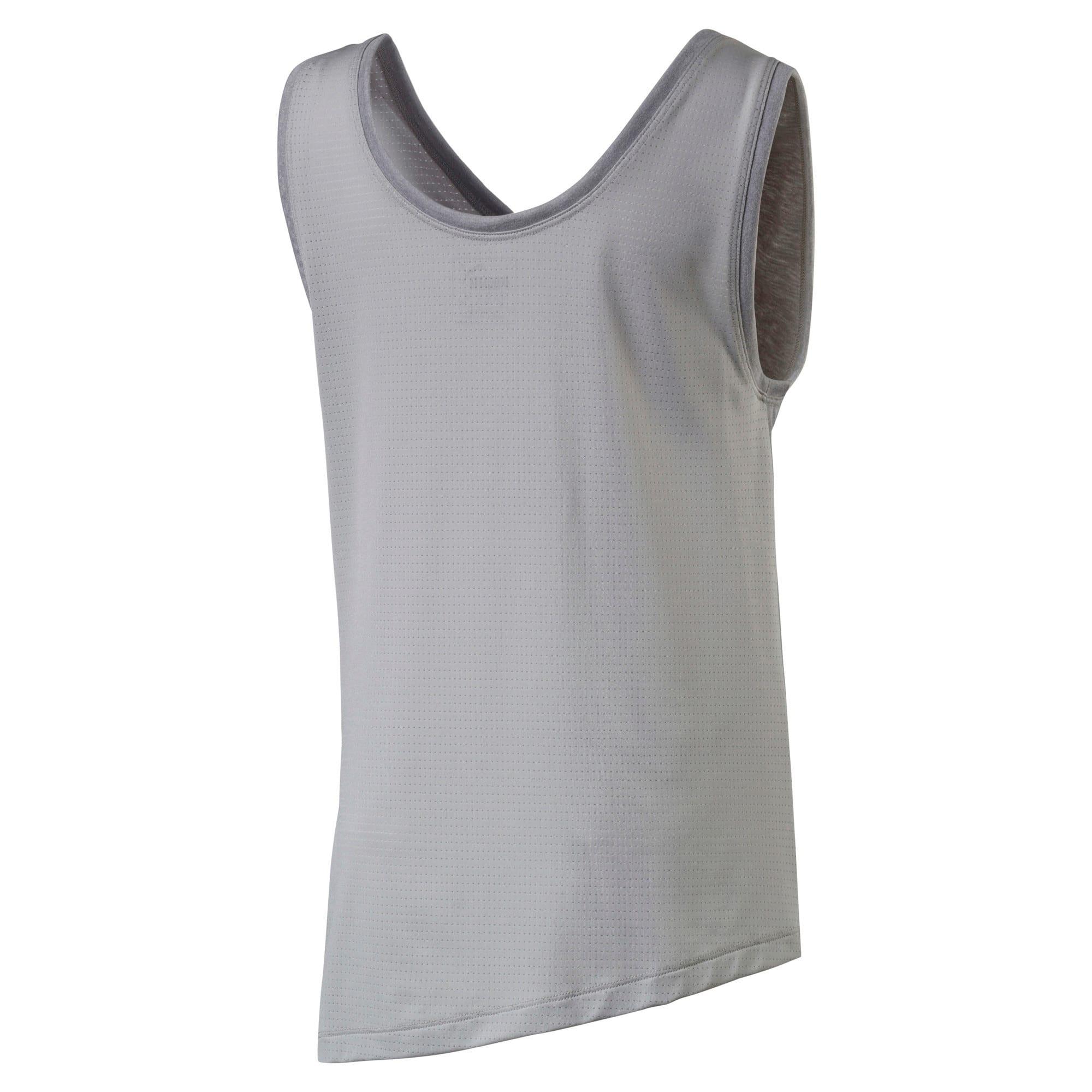 Thumbnail 2 of Softsport Girls' Sleeveless Training Top, Light Gray Heather, medium-IND