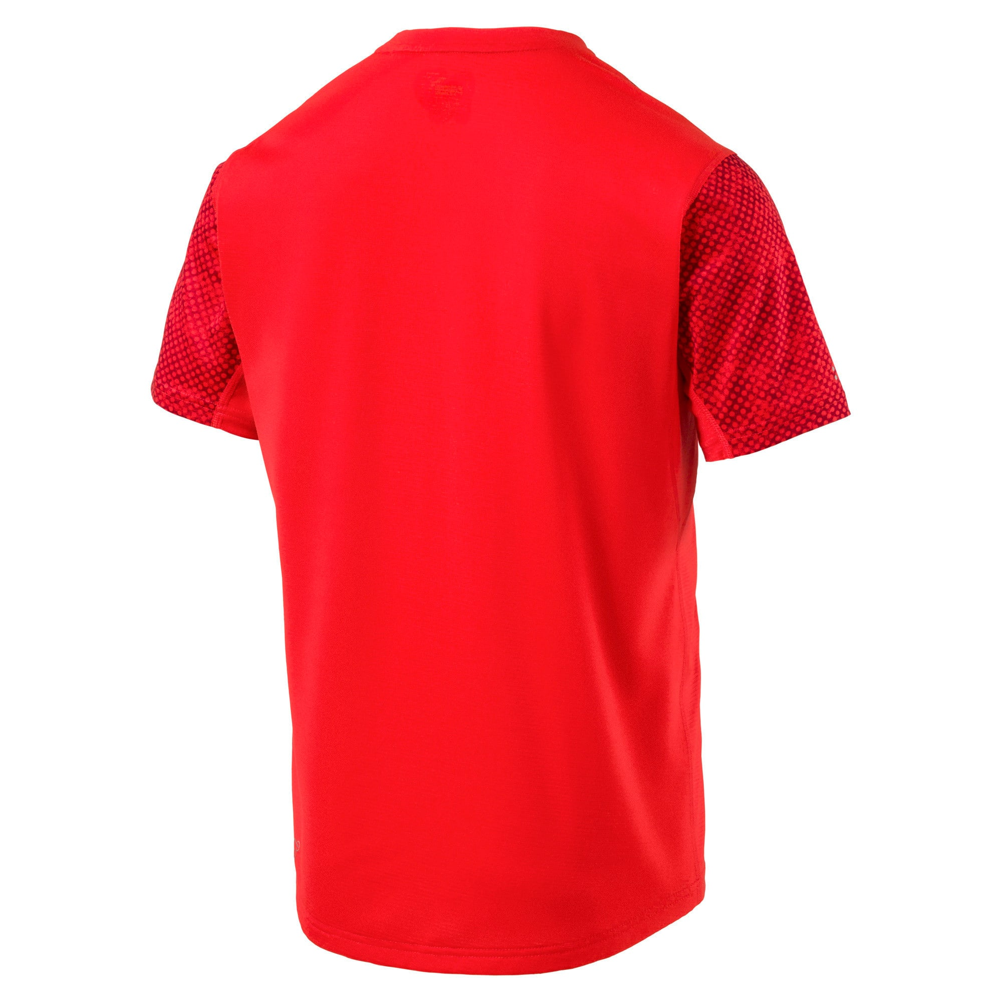 Thumbnail 4 of Graphic Short Sleeve Men's Running T-Shirt, Flame Scarlet, medium-IND
