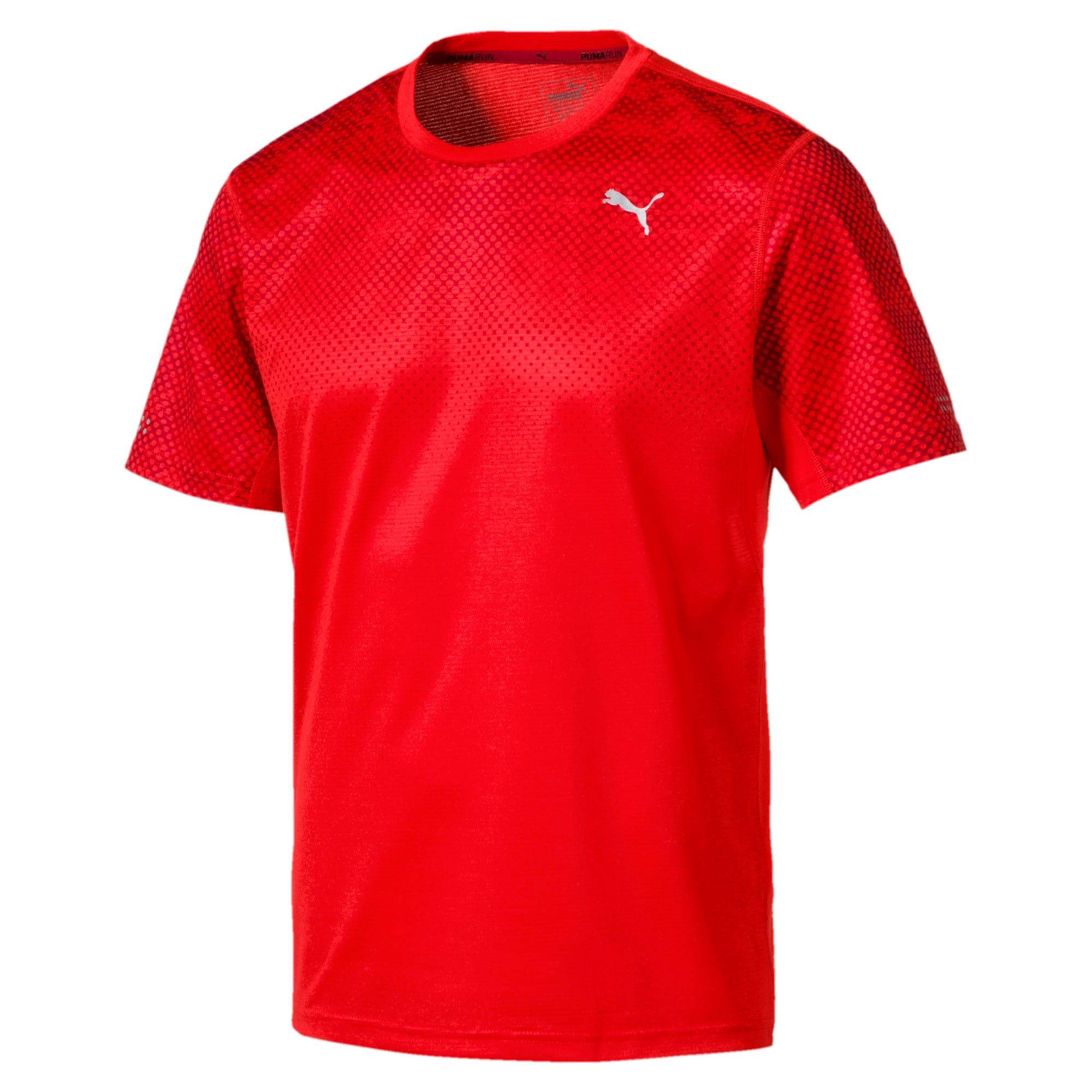 Thumbnail 3 of Graphic Short Sleeve Men's Running T-Shirt, Flame Scarlet, medium-IND