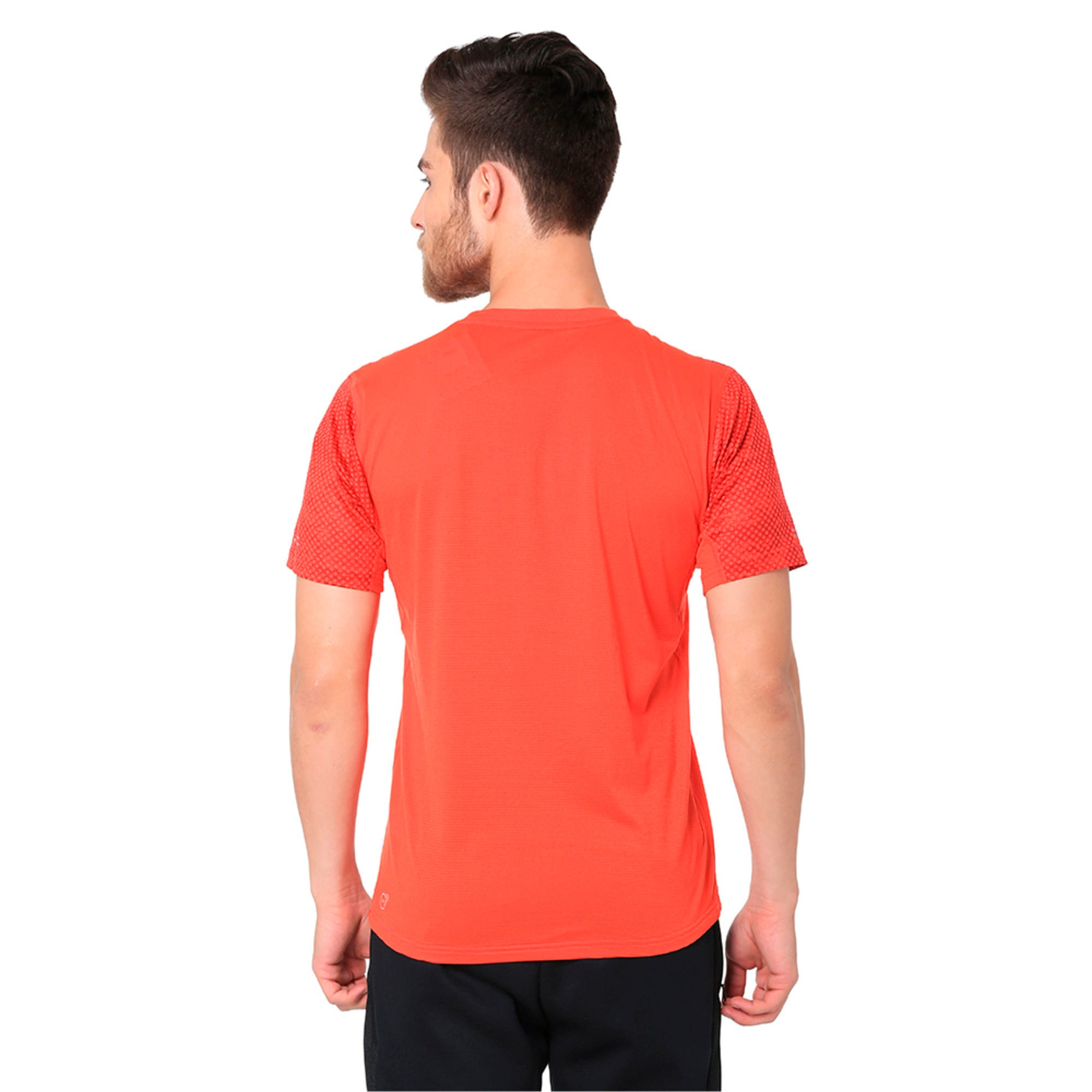 Thumbnail 1 of Graphic Short Sleeve Men's Running T-Shirt, Flame Scarlet, medium-IND