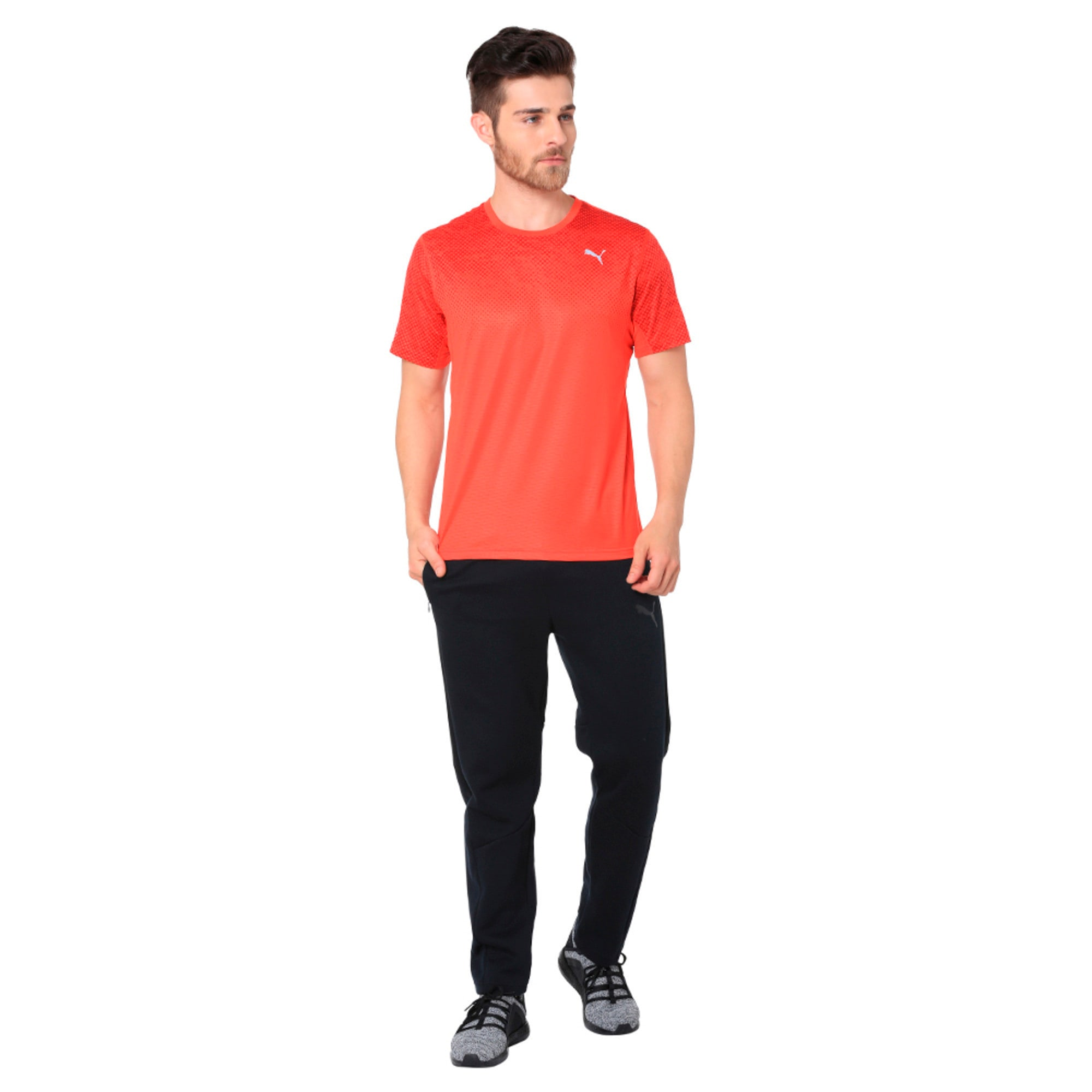 Thumbnail 2 of Graphic Short Sleeve Men's Running T-Shirt, Flame Scarlet, medium-IND