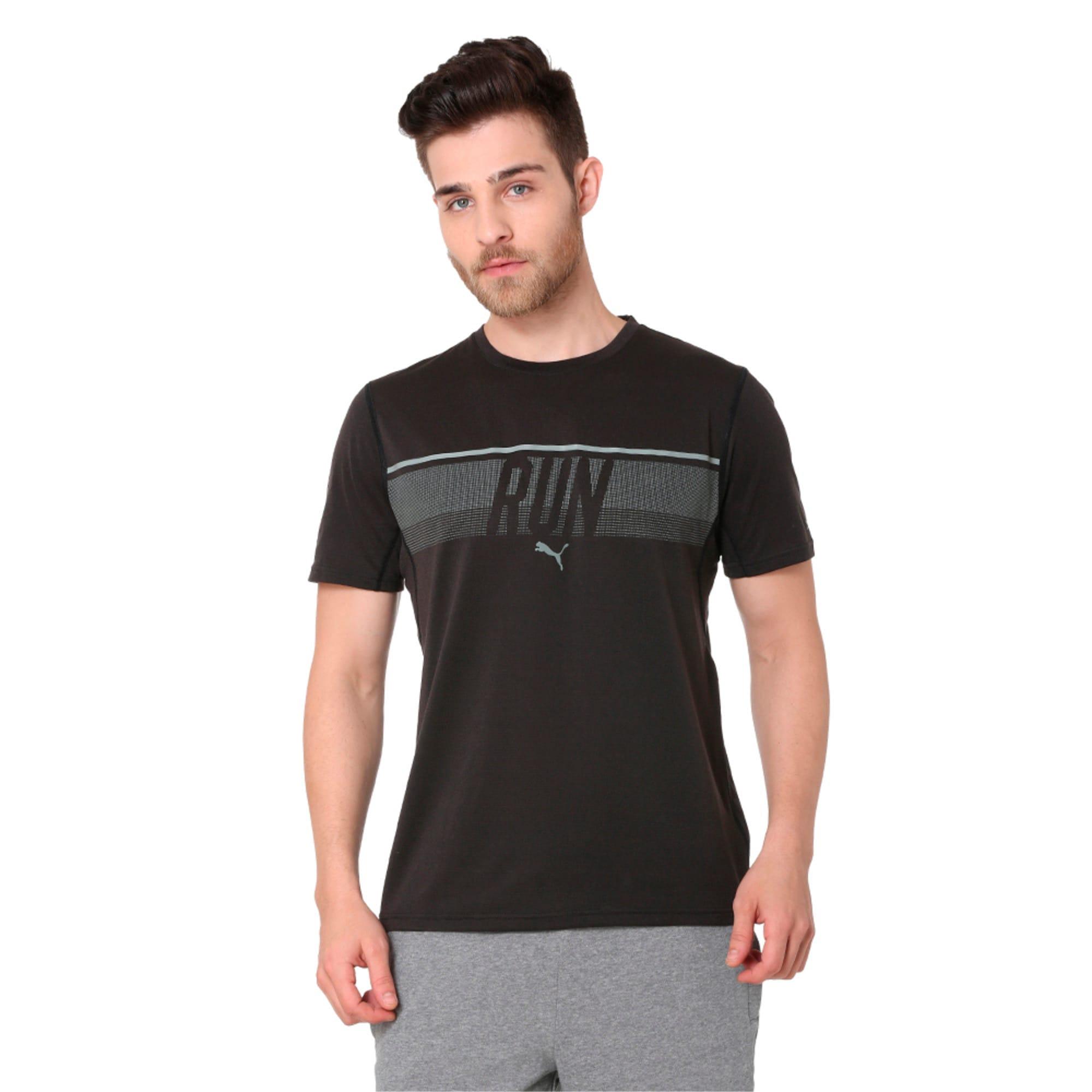 Thumbnail 1 of Run Men's Running T-Shirt, Puma Black, medium-IND