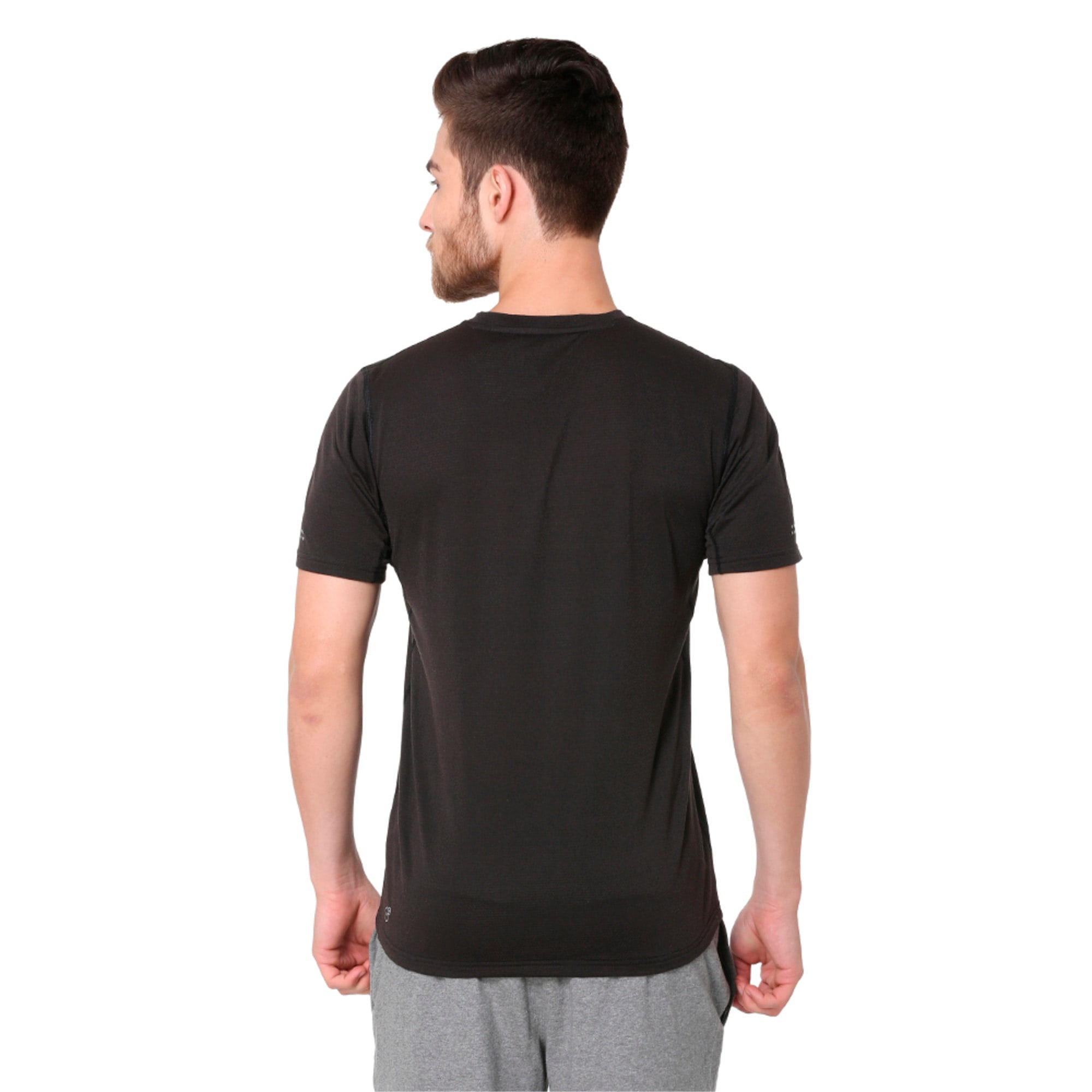 Thumbnail 2 of Run Men's Running T-Shirt, Puma Black, medium-IND