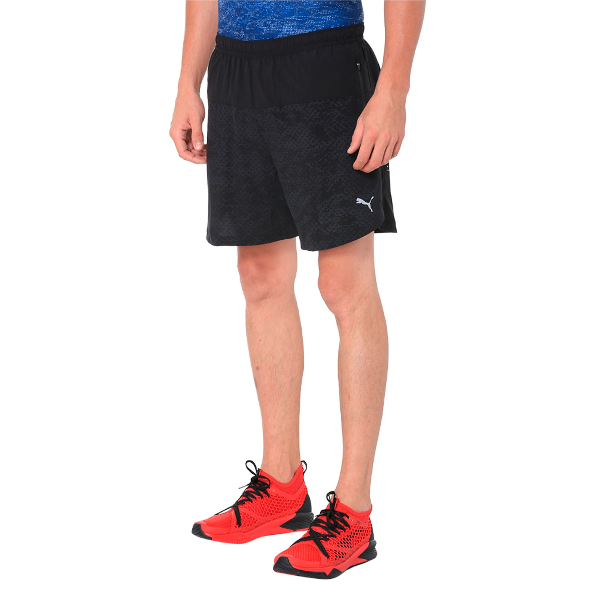Thumbnail 2 of Pace 7'' Graphic Men's Running Shorts, Puma Black, medium-IND