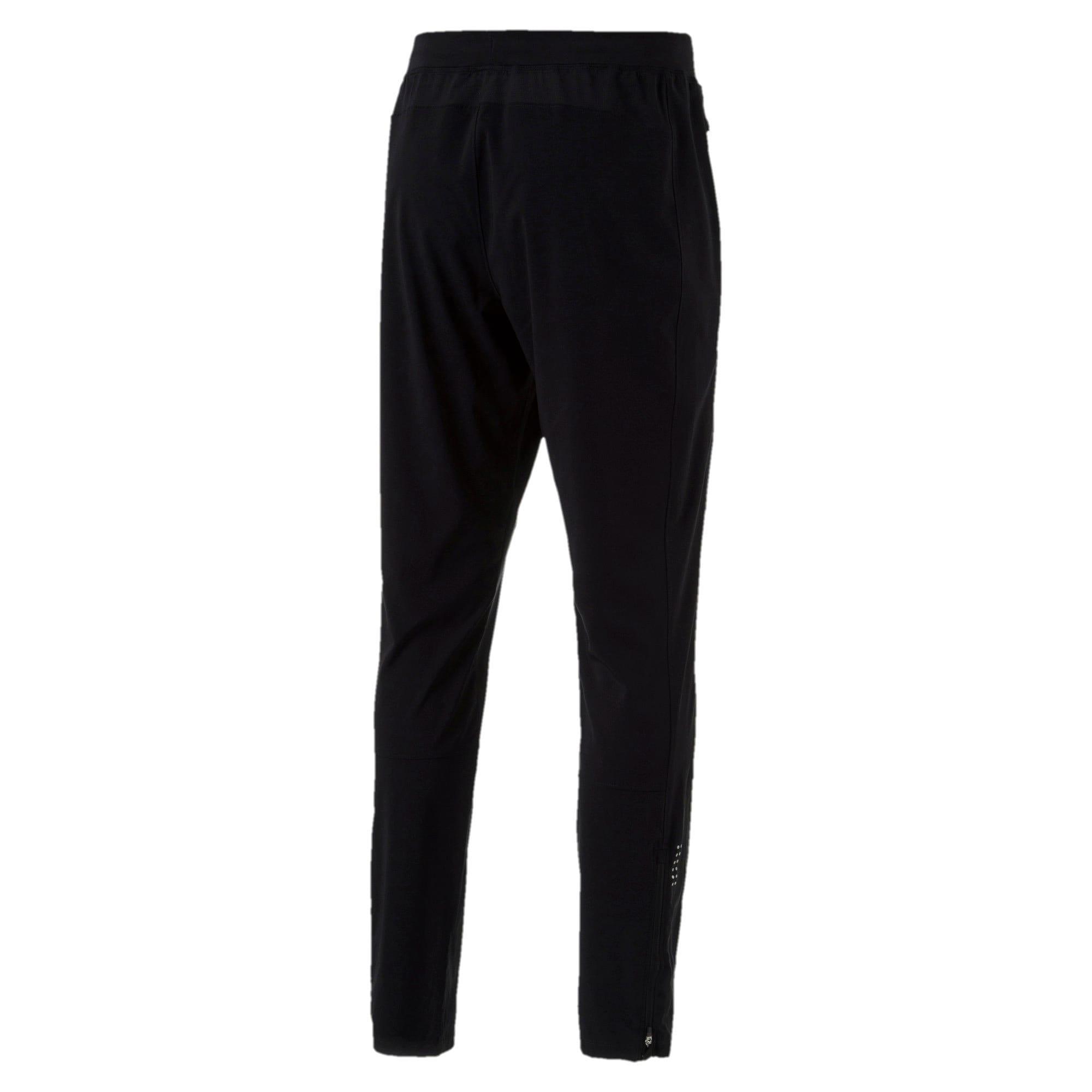 Thumbnail 5 of Tapered Woven Men's Running Pants, Puma Black, medium-IND