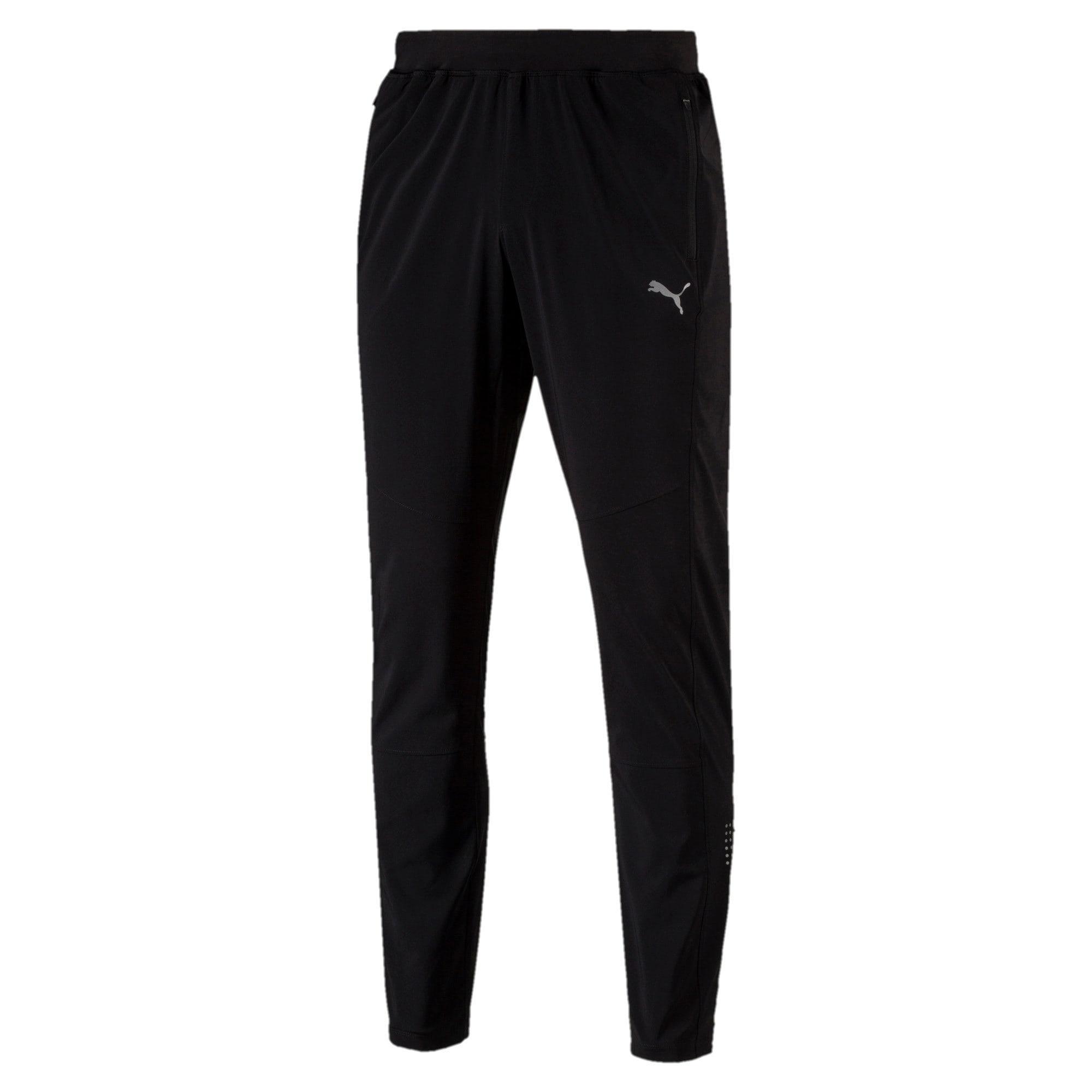 Thumbnail 4 of Tapered Woven Men's Running Pants, Puma Black, medium-IND