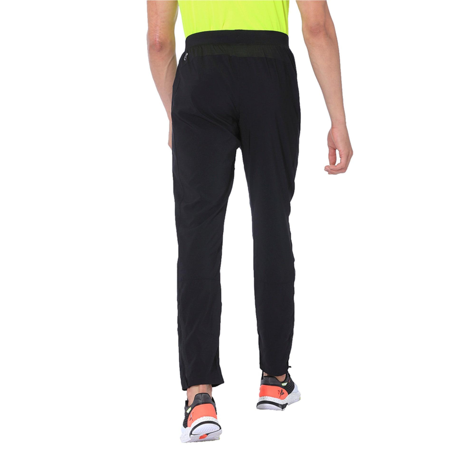 Thumbnail 2 of Tapered Woven Men's Running Pants, Puma Black, medium-IND