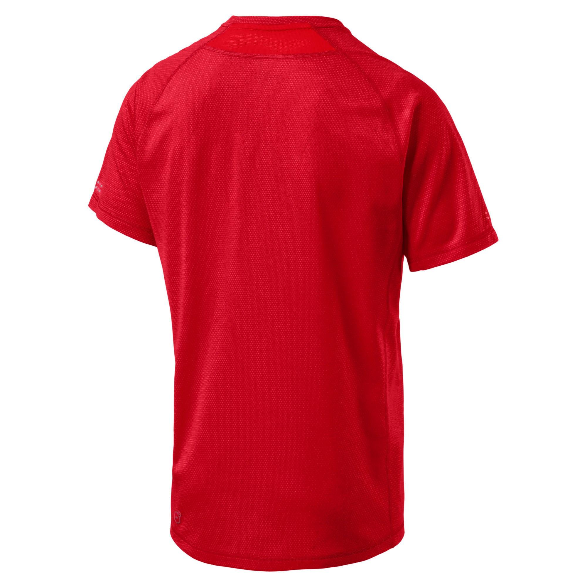 Thumbnail 3 of PWRRUN AdapThermo-R Men's Short Sleeve Running T-Shirt, Flame Scarlet, medium-IND