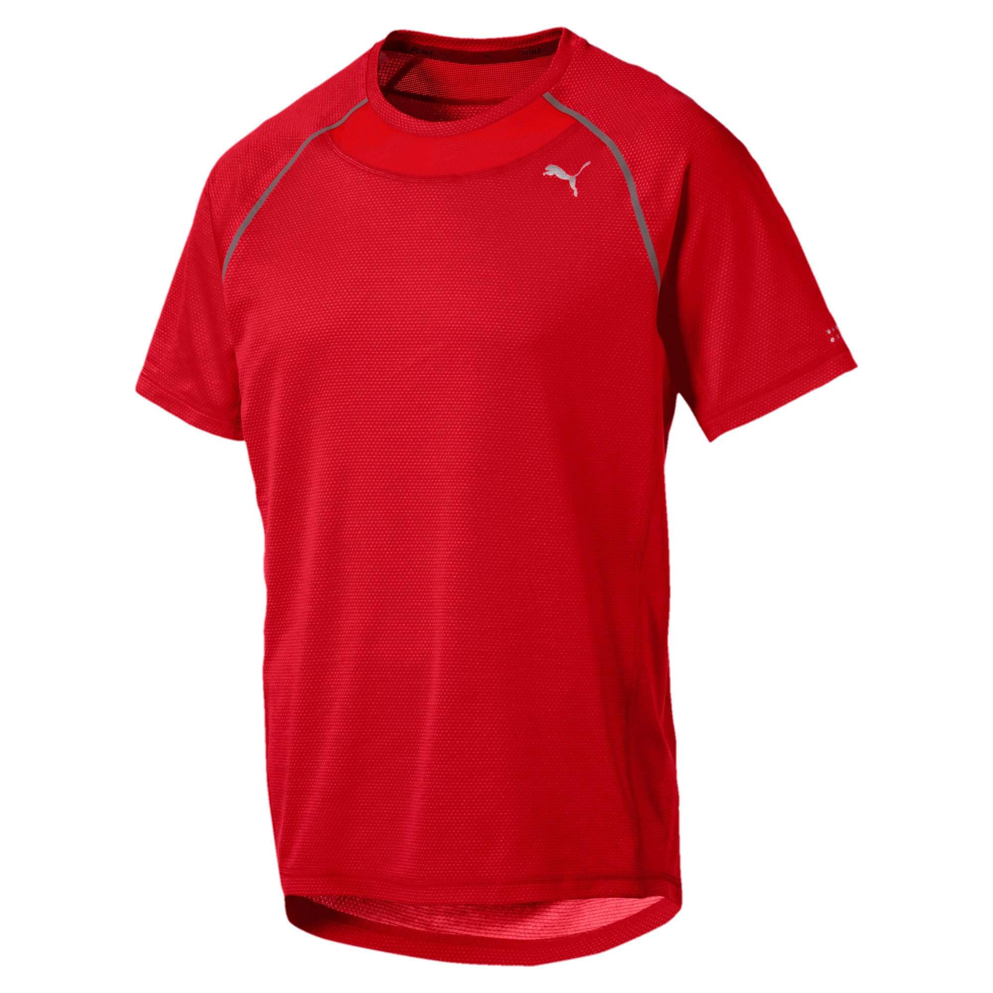 Thumbnail 1 of PWRRUN AdapThermo-R Men's Short Sleeve Running T-Shirt, Flame Scarlet, medium-IND