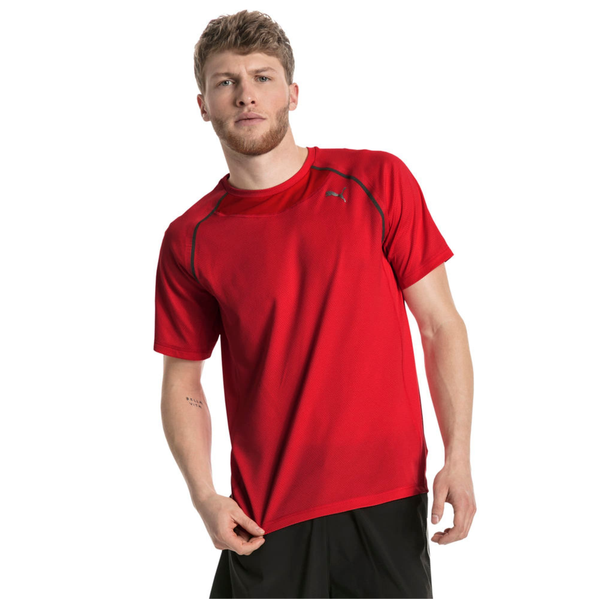 Thumbnail 2 of PWRRUN AdapThermo-R Men's Short Sleeve Running T-Shirt, Flame Scarlet, medium-IND