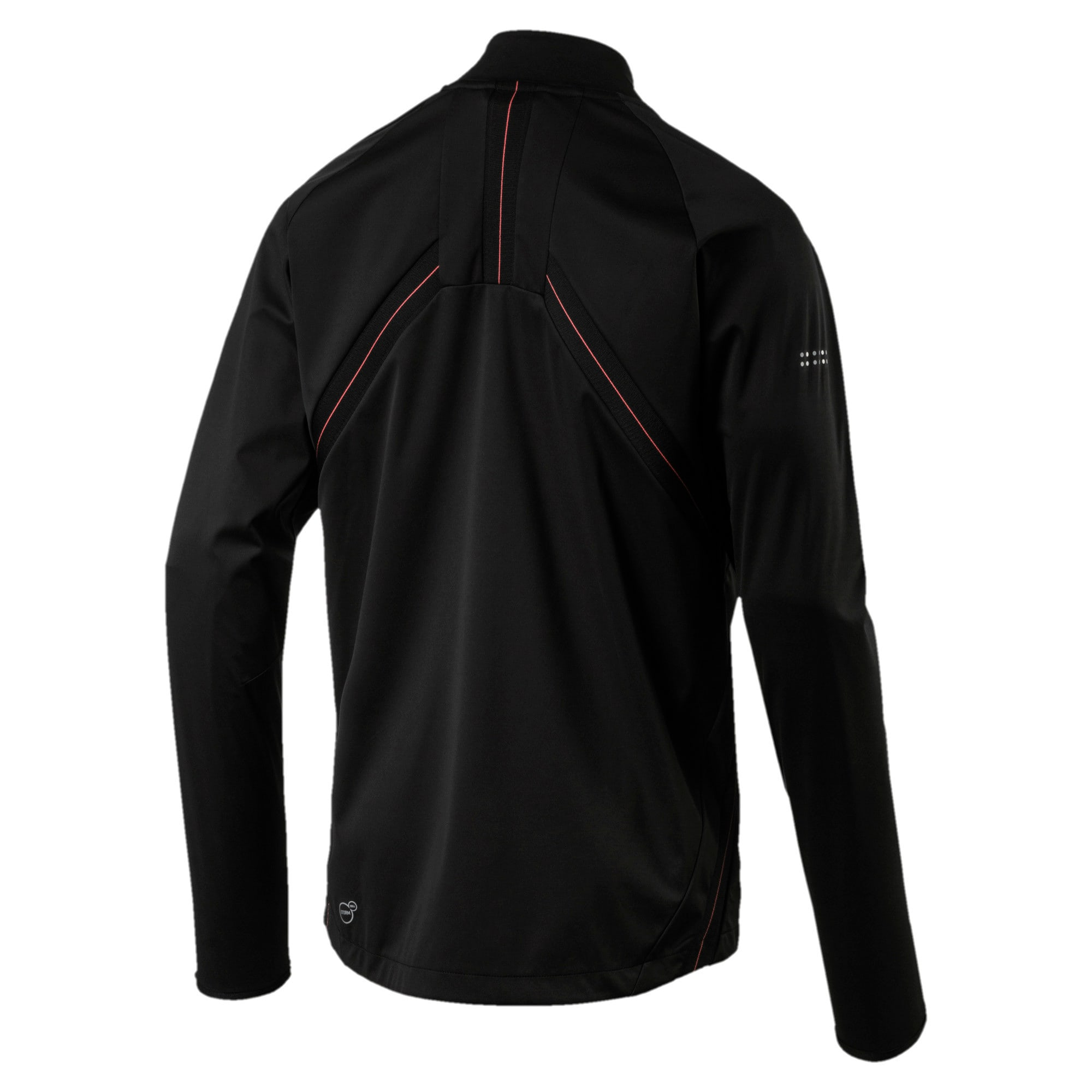 Thumbnail 3 of PWRRUN Vent Thermo-R Men's Zip-Up Running Jacket, Puma Black, medium-IND