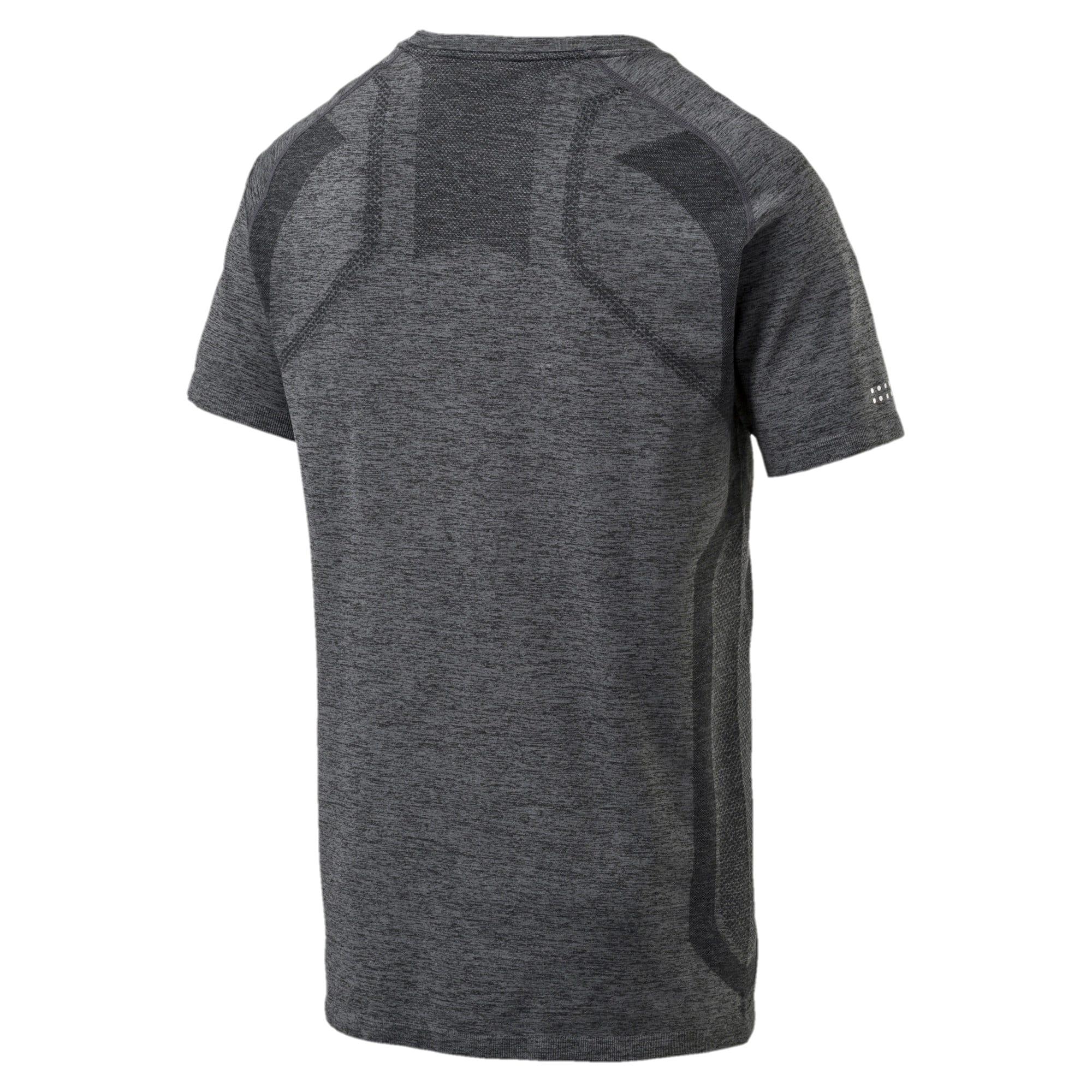 Thumbnail 2 of PWRRUN evoKNIT Men's Short Sleeve Running T-Shirt, Dark Gray Heather, medium-IND