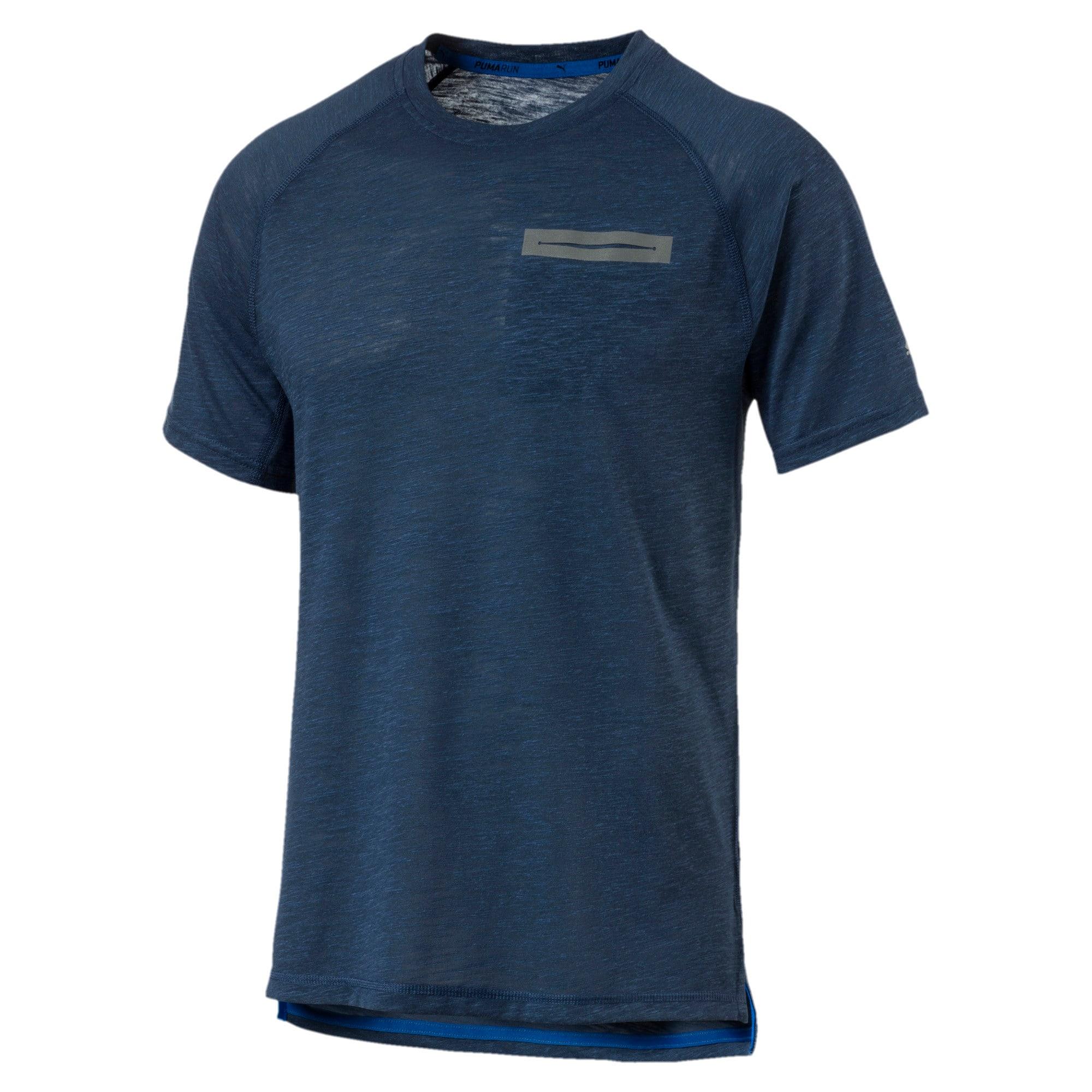 Thumbnail 3 of Energy Short Sleeve Men's Running T-Shirt, Sargasso Sea Heather, medium-IND