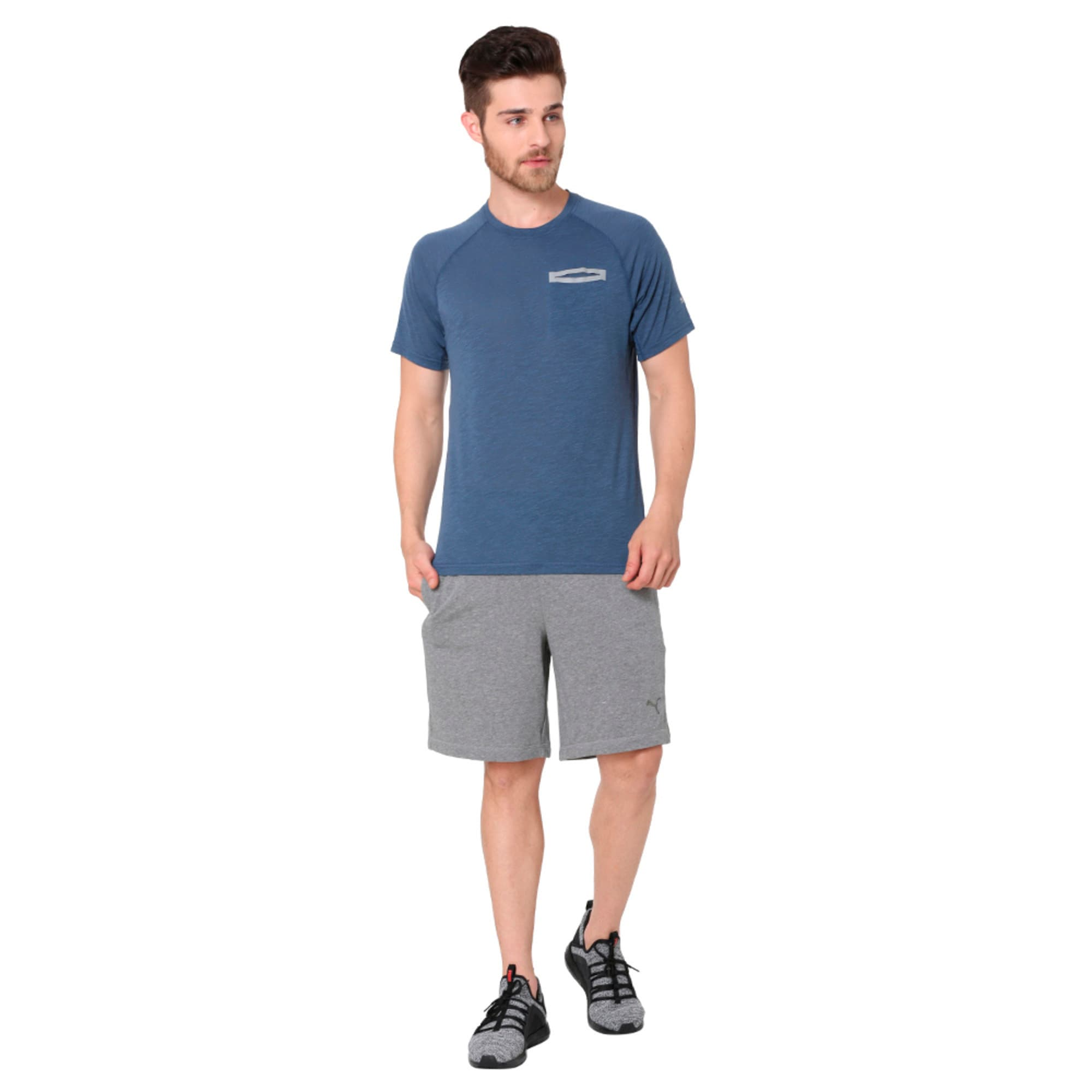 Thumbnail 2 of Energy Short Sleeve Men's Running T-Shirt, Sargasso Sea Heather, medium-IND