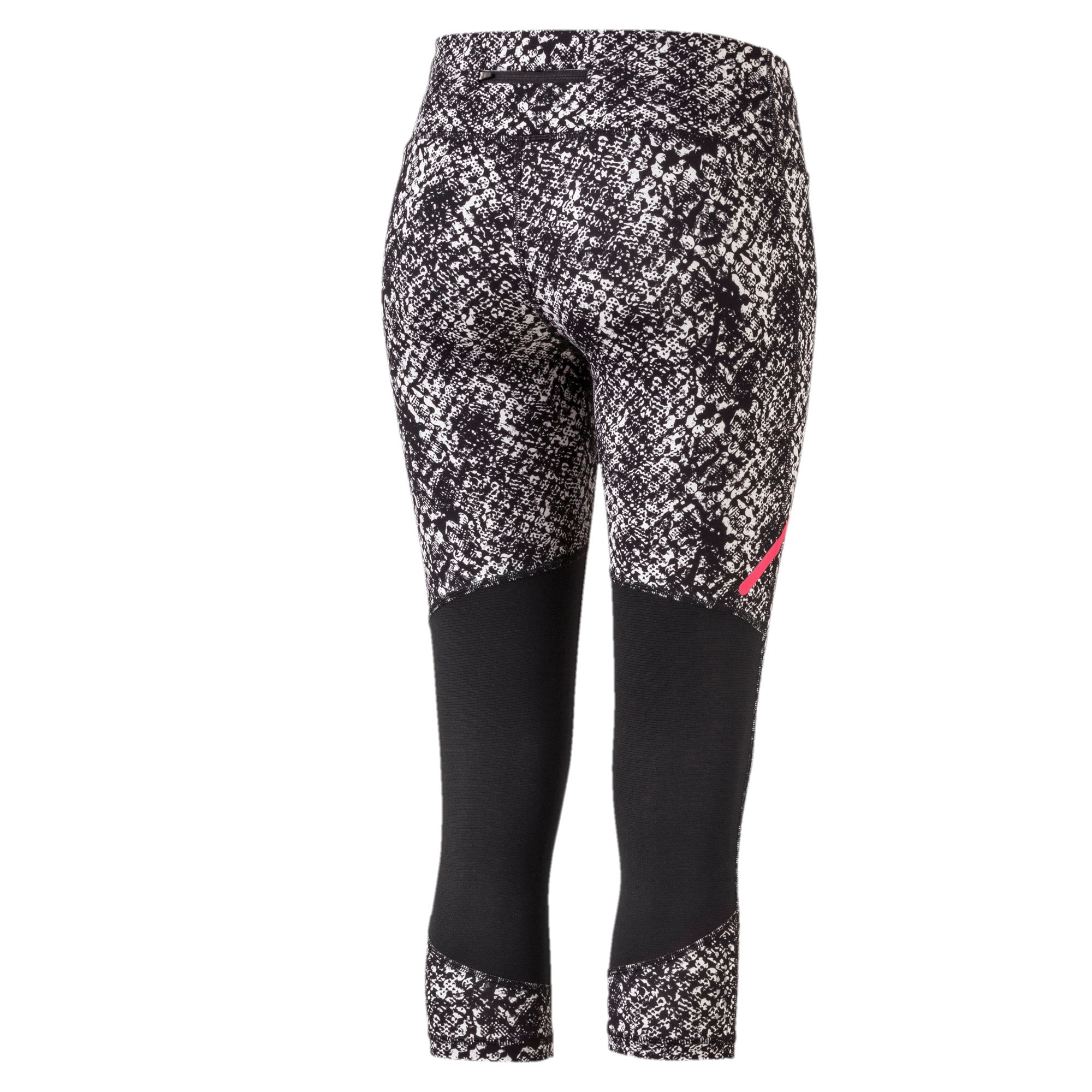 Graphic 3/4 Women's Tights, Black-White Euphoria, large-IND