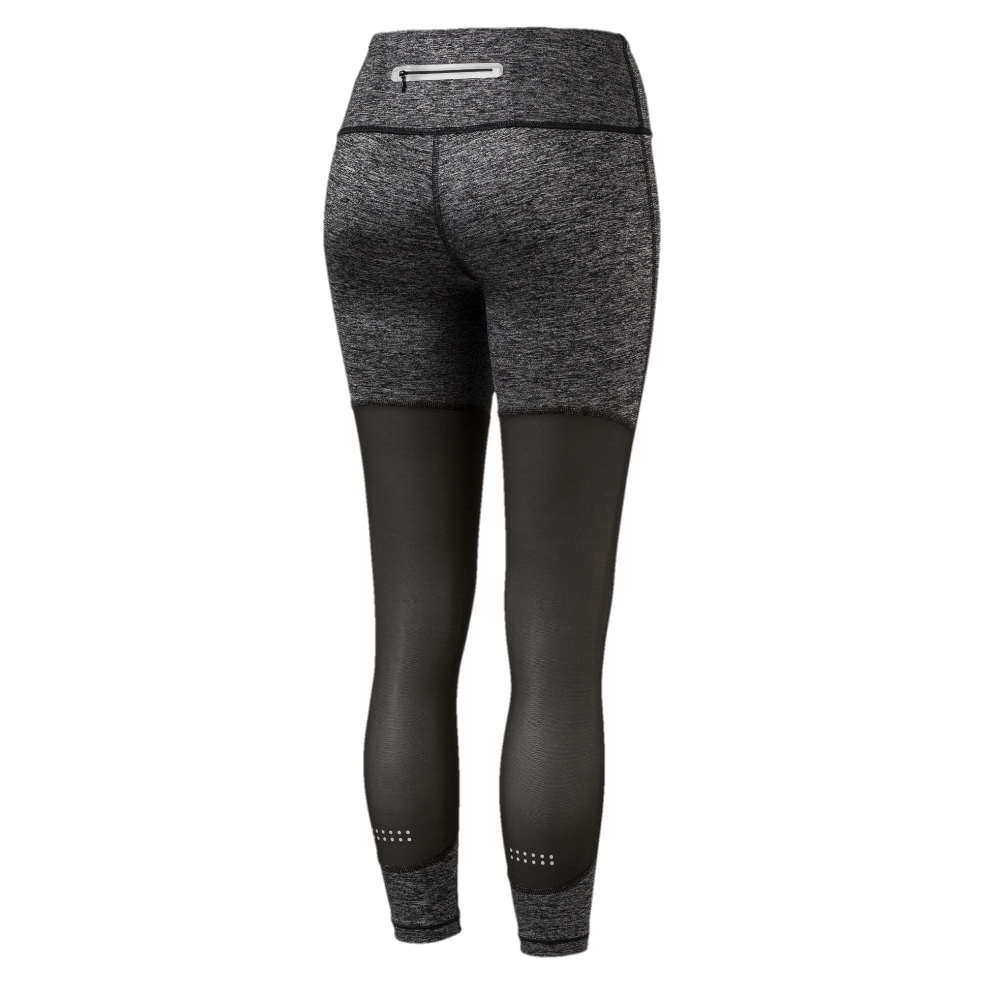 Thumbnail 2 of Explosive Run Women's 7/8 Tights, Puma Black Heather-Puma Blck, medium-IND