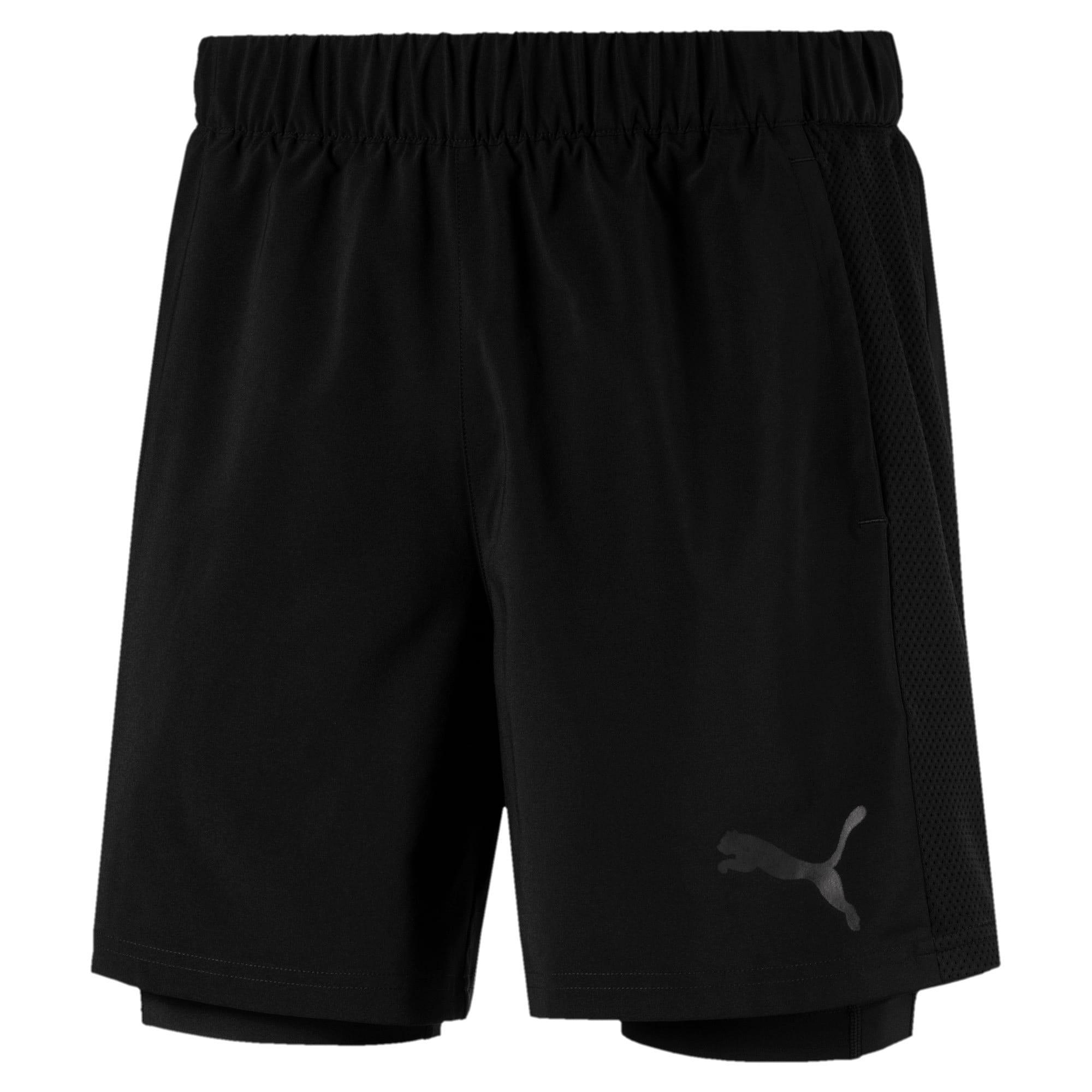 Thumbnail 1 of TECH Woven 2 in 1 Men's Training Shorts, Puma Black-Puma Black, medium-IND
