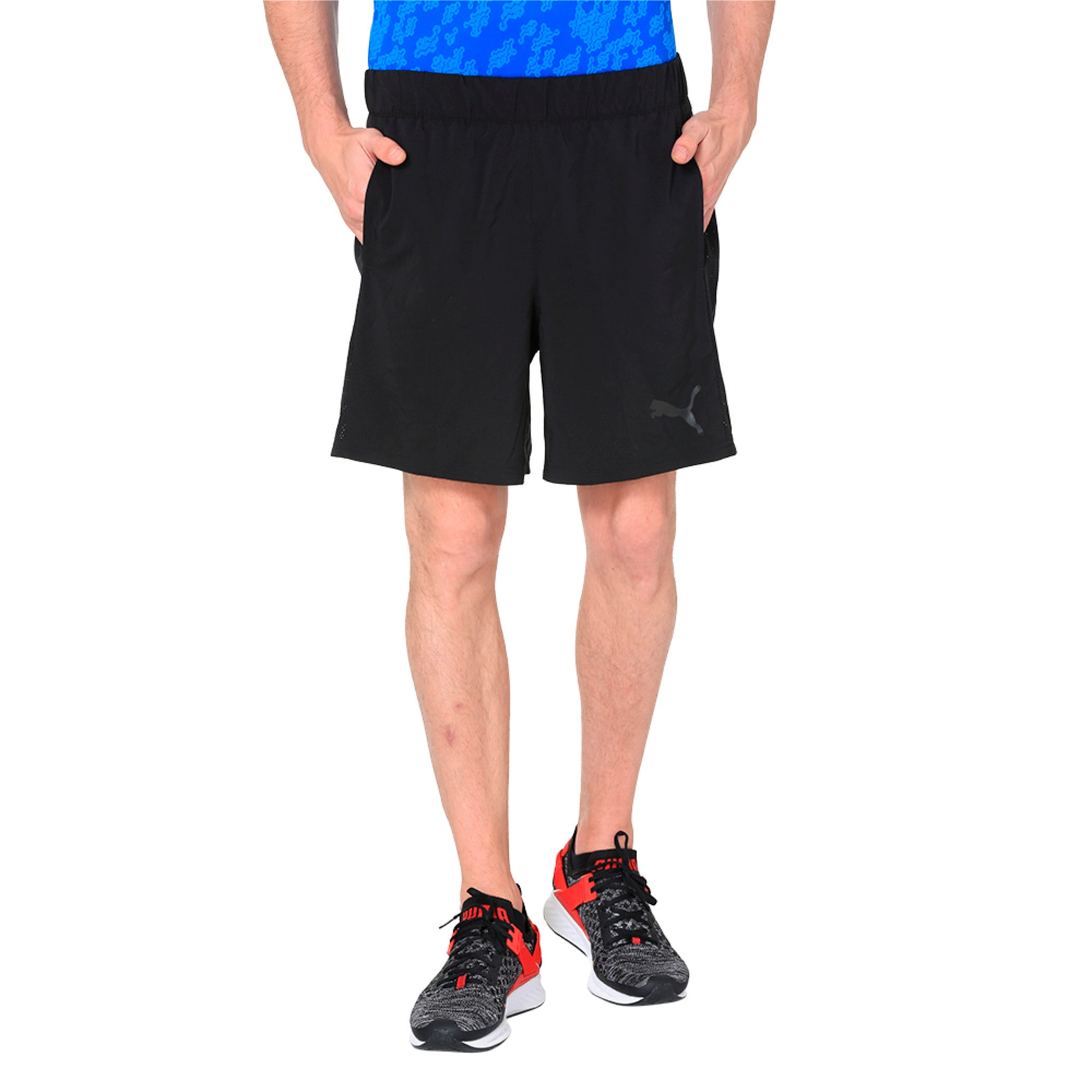 Thumbnail 2 of TECH Woven 2 in 1 Men's Training Shorts, Puma Black-Puma Black, medium-IND
