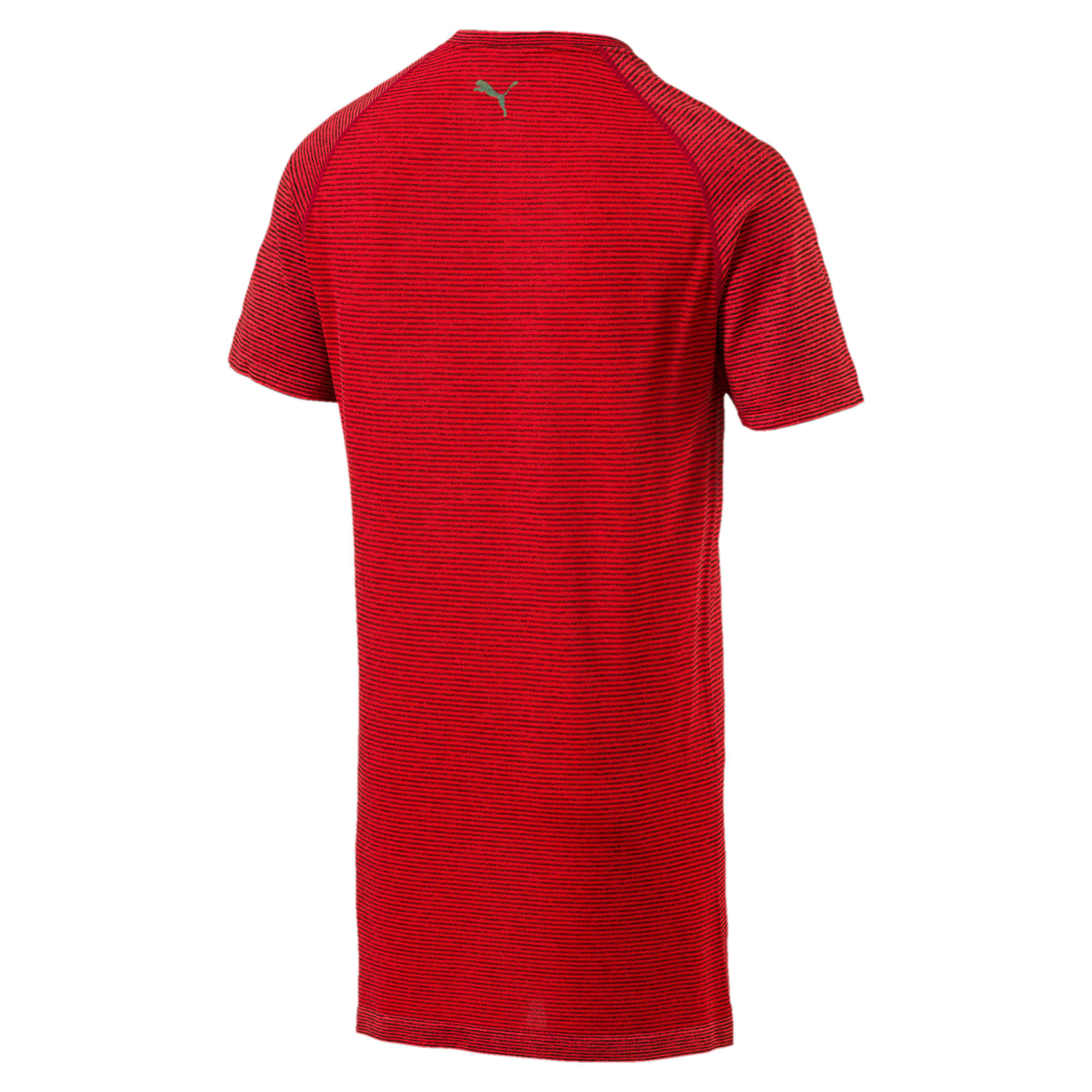 Thumbnail 2 of evoKNIT Men's T-Shirt, Flame Scarlet Heather, medium-IND