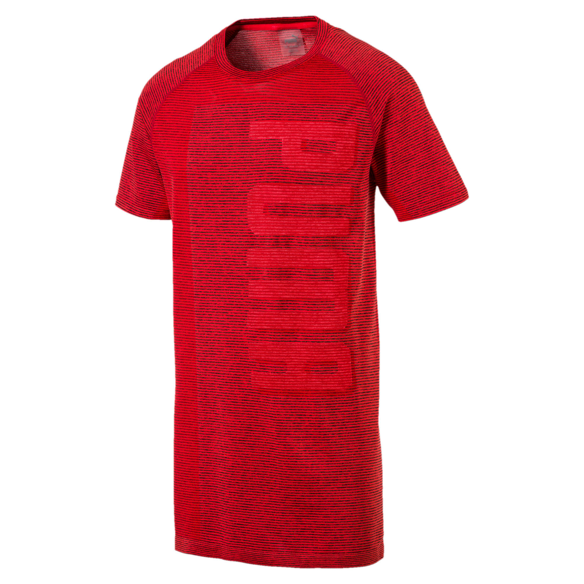 Thumbnail 1 of evoKNIT Men's T-Shirt, Flame Scarlet Heather, medium-IND
