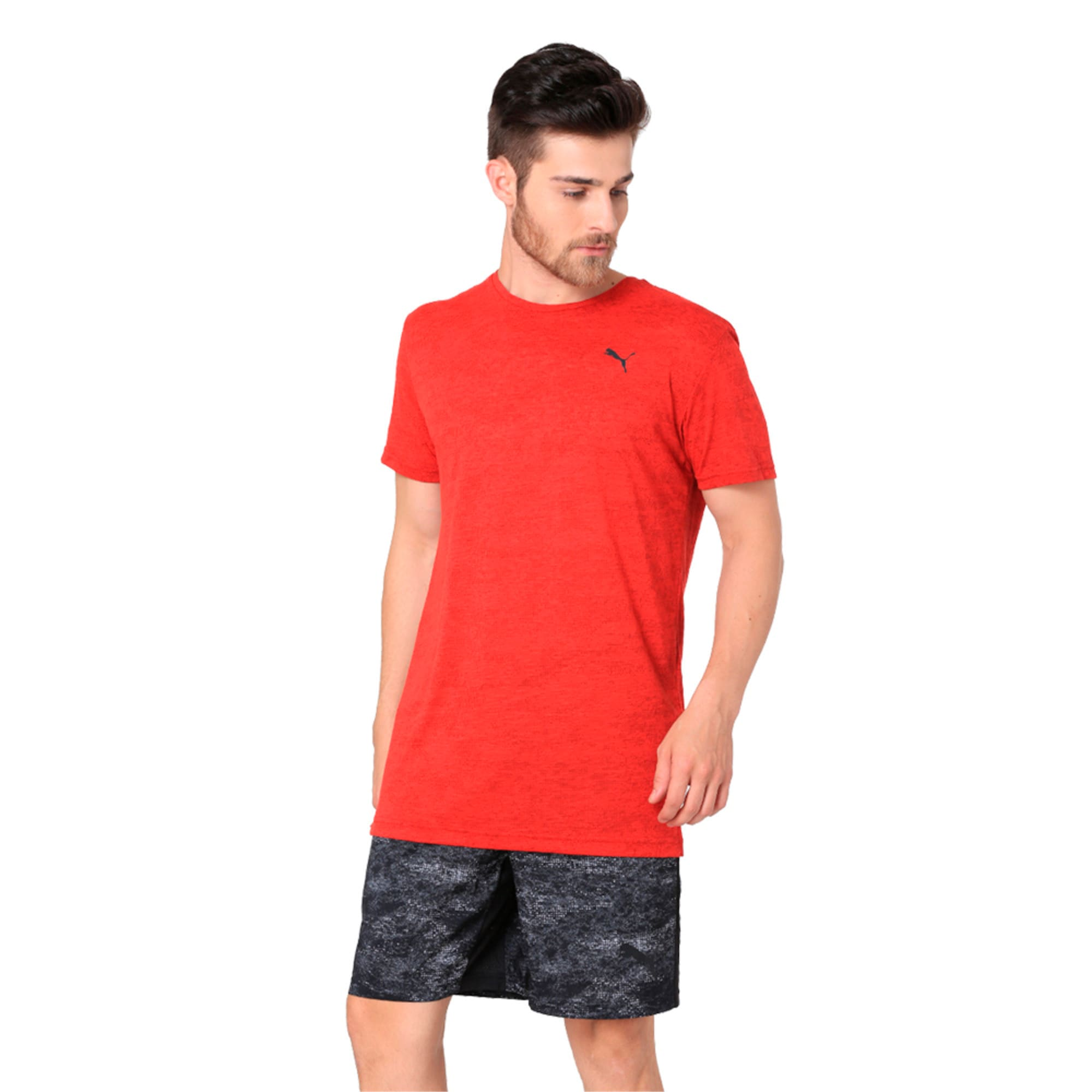 Thumbnail 4 of drirelease Graphic Men's Short Sleeve Training Tee, Flame Scarlet, medium-IND