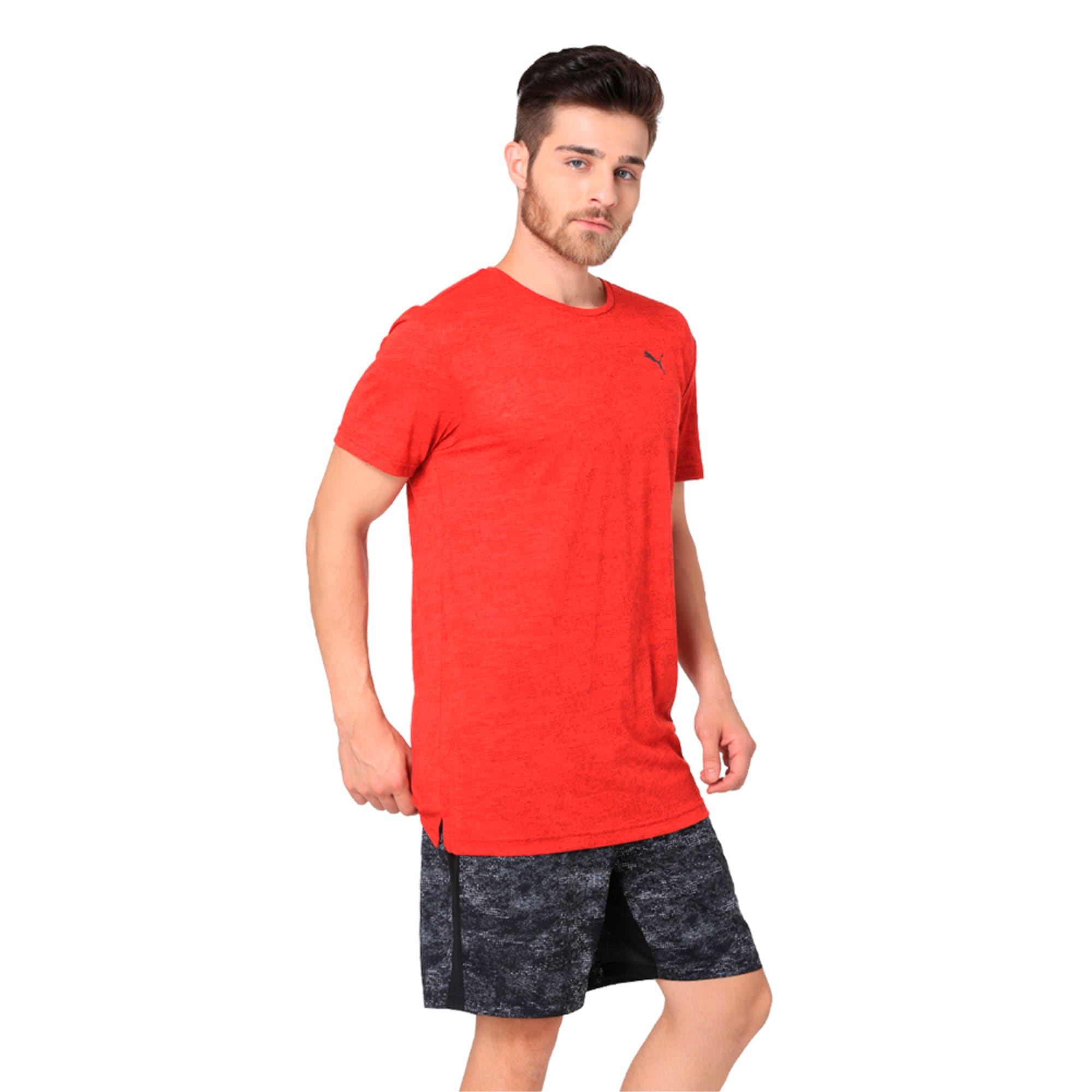 Thumbnail 2 of drirelease Graphic Men's Short Sleeve Training Tee, Flame Scarlet, medium-IND