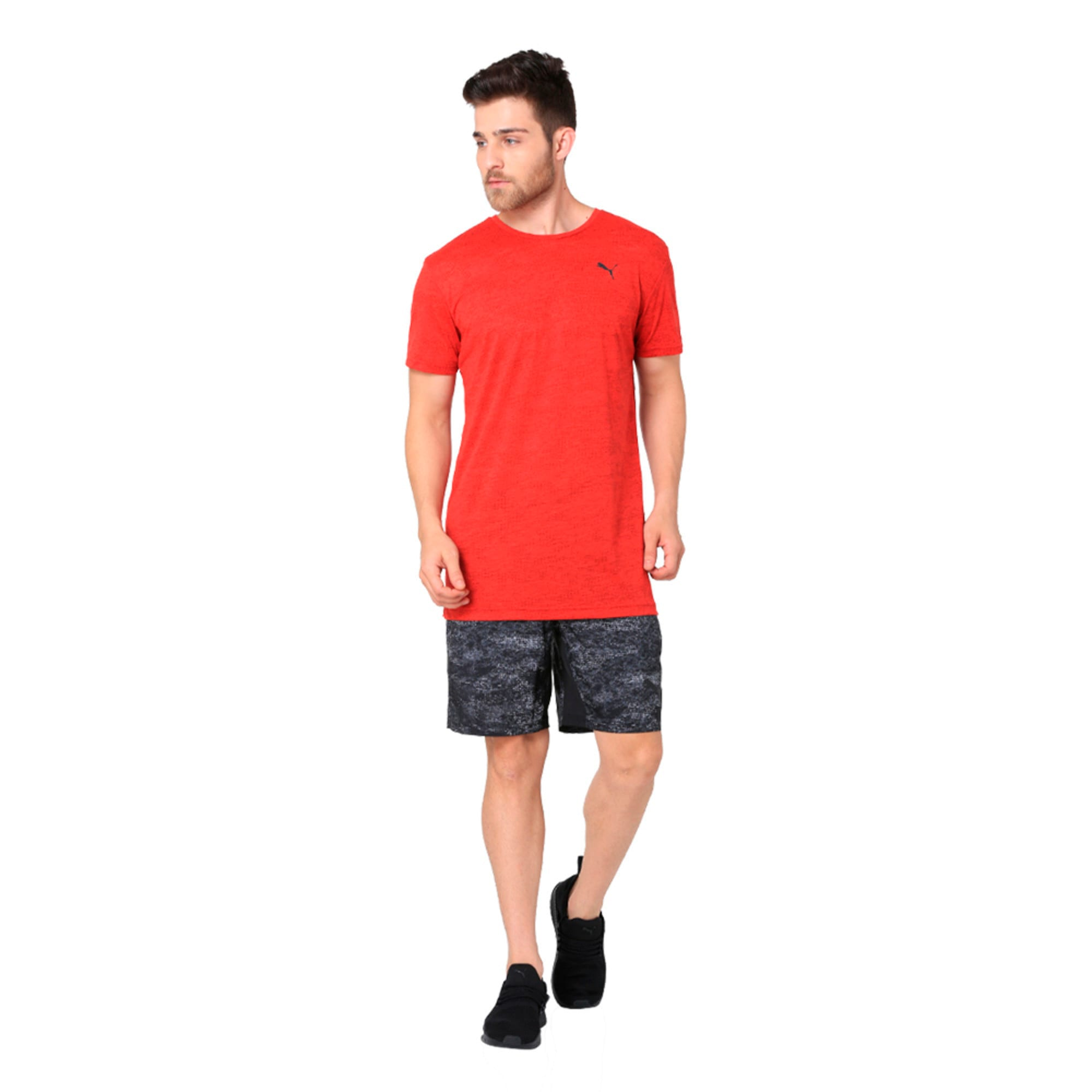 Thumbnail 3 of drirelease Graphic Men's Short Sleeve Training Tee, Flame Scarlet, medium-IND