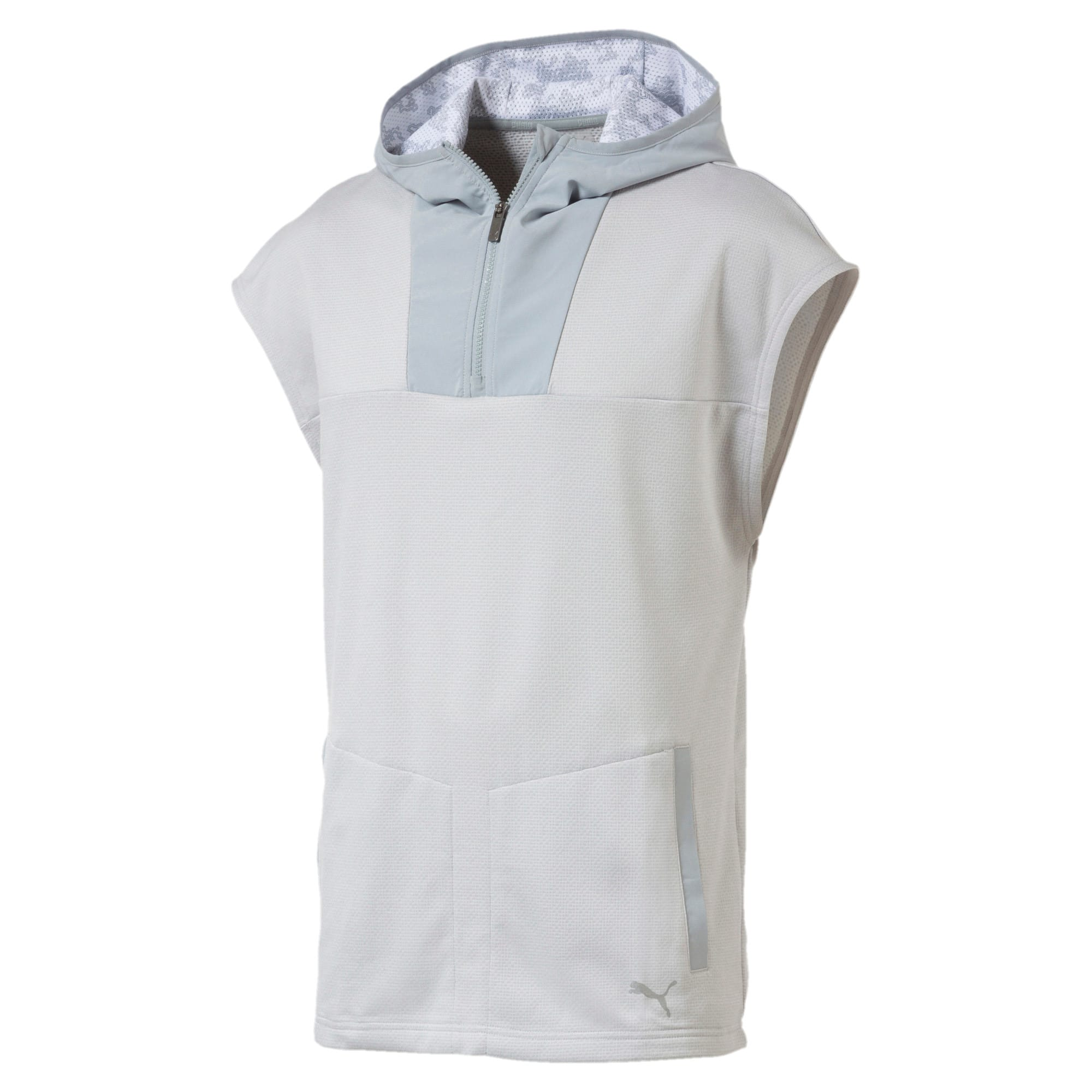 Oceanaire Men's Sleeveless Hoodie, Light Gray Heather, large-IND