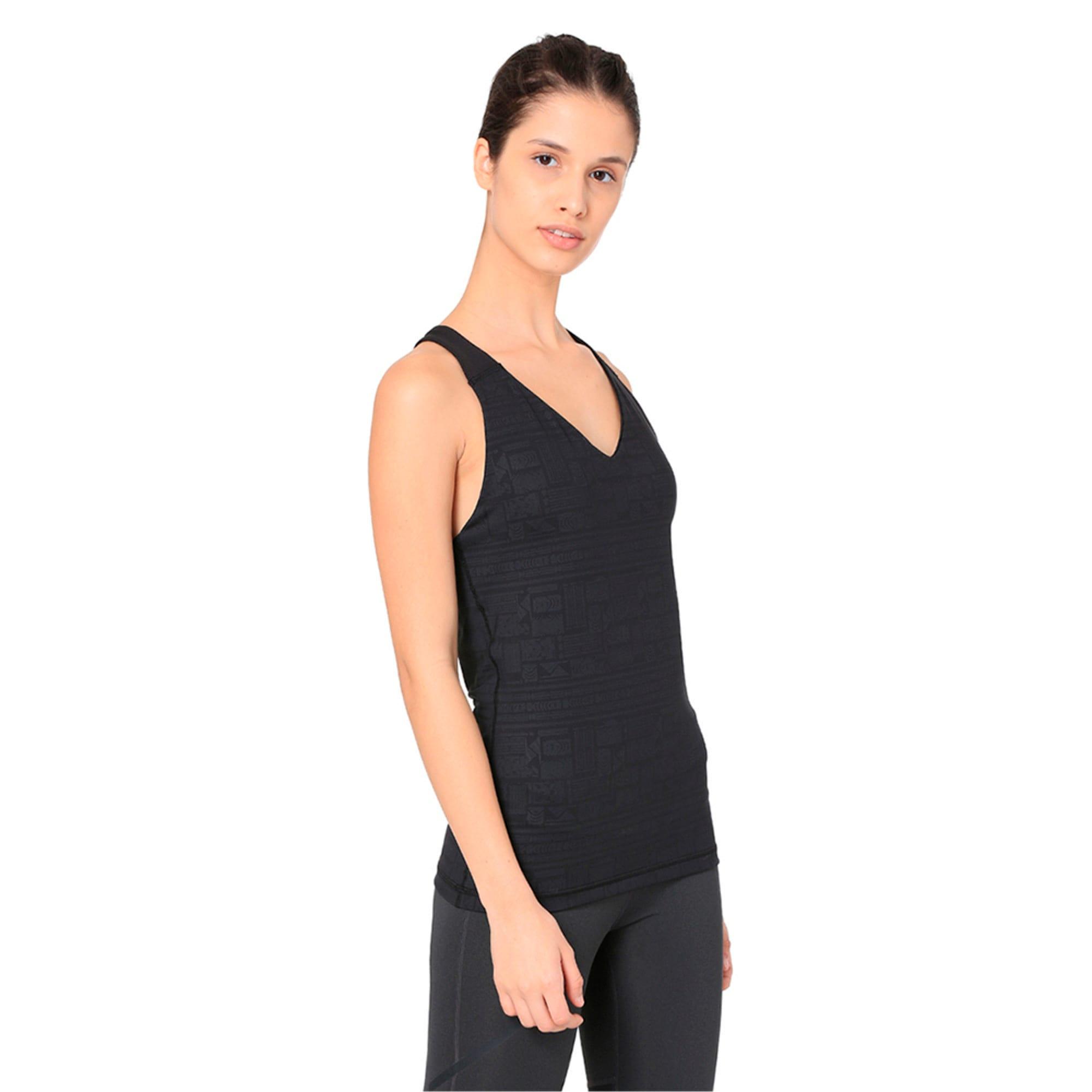 Thumbnail 5 of ALL EYES ON ME Women's Tank Top, Puma Black-Solistice gel prt, medium-IND