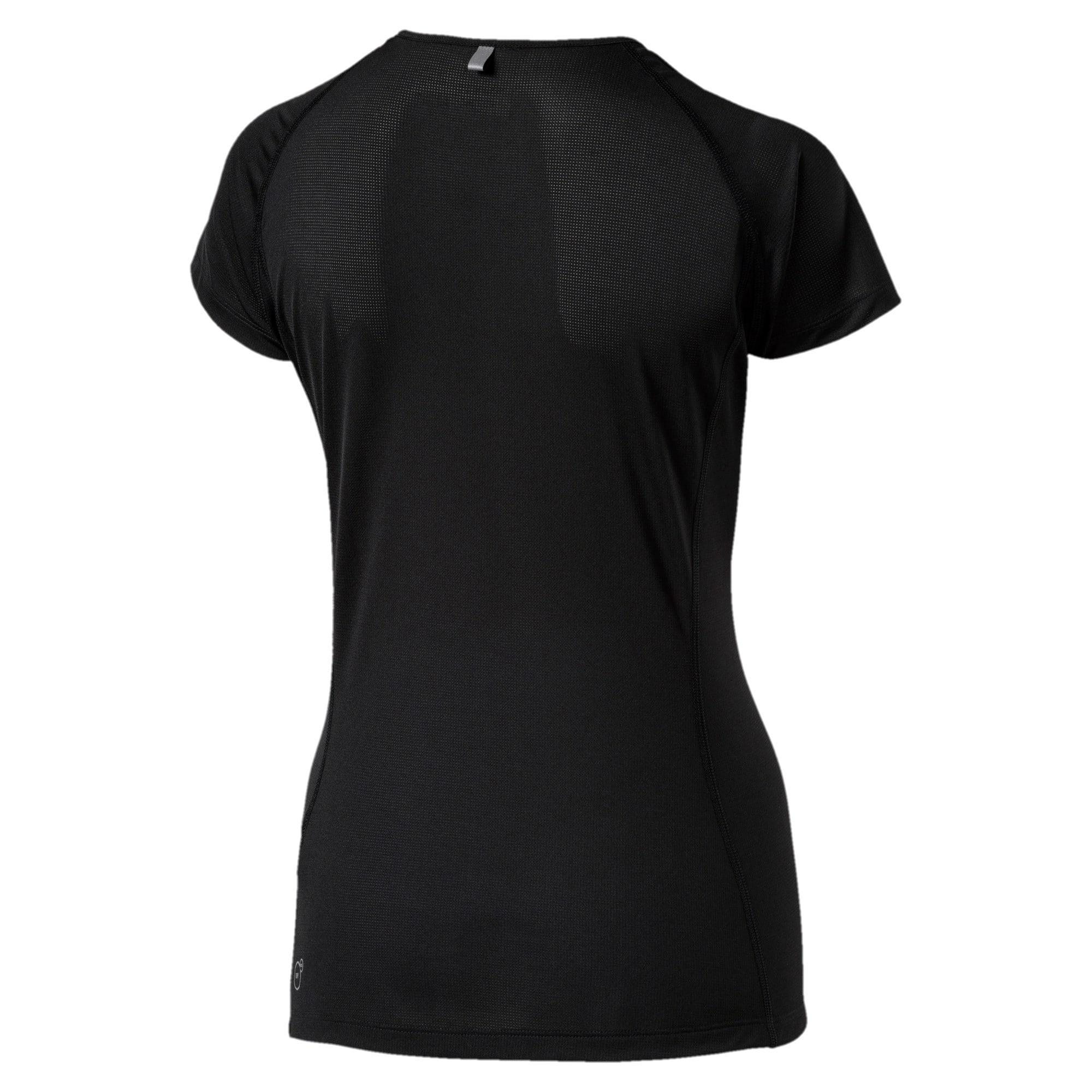 Thumbnail 2 of Core-Run Short Sleeve Women's Training Top, Puma Black, medium-IND