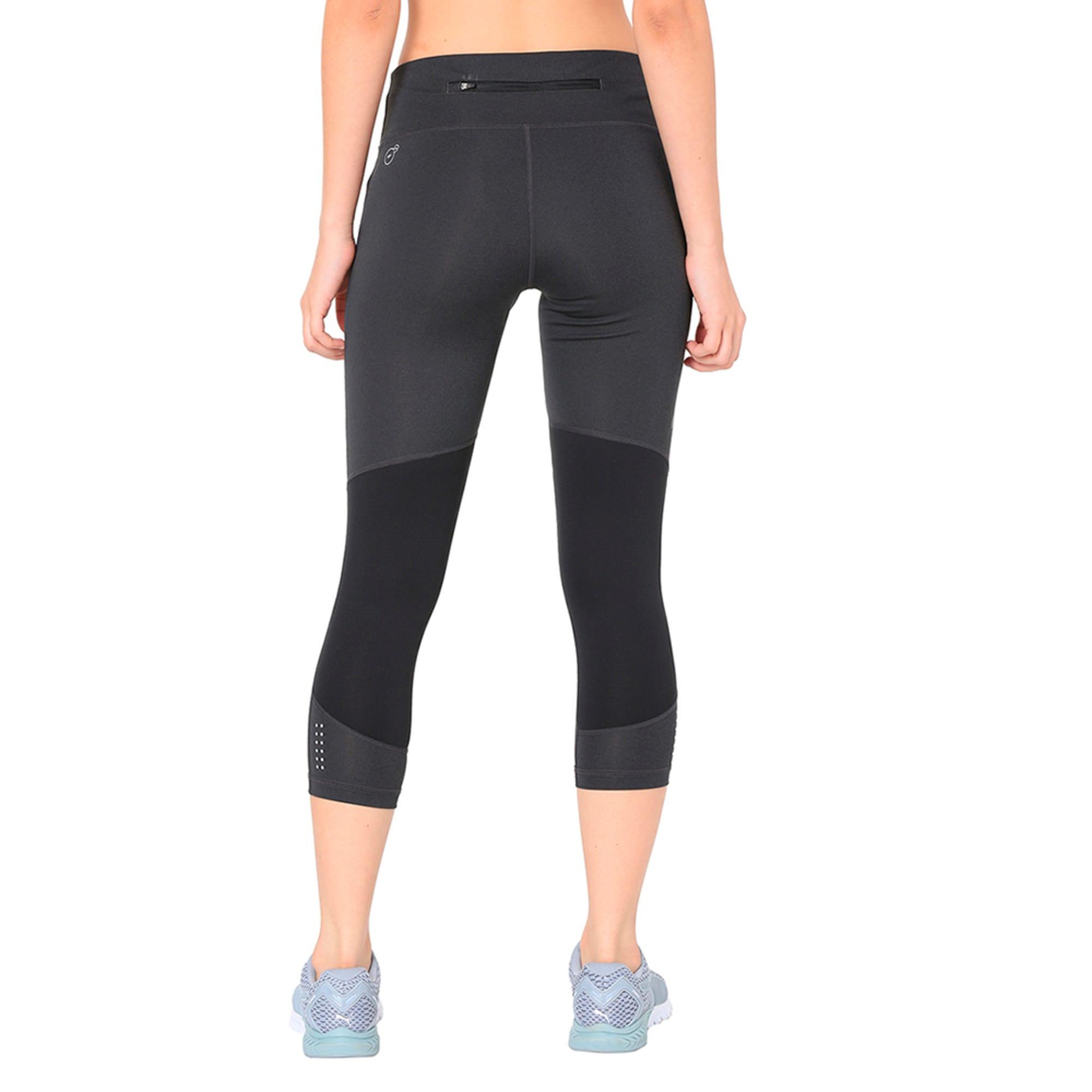 Thumbnail 3 of Speed 3/4 Women's Training Tights, Dark Gray Heather-Puma Black, medium-IND