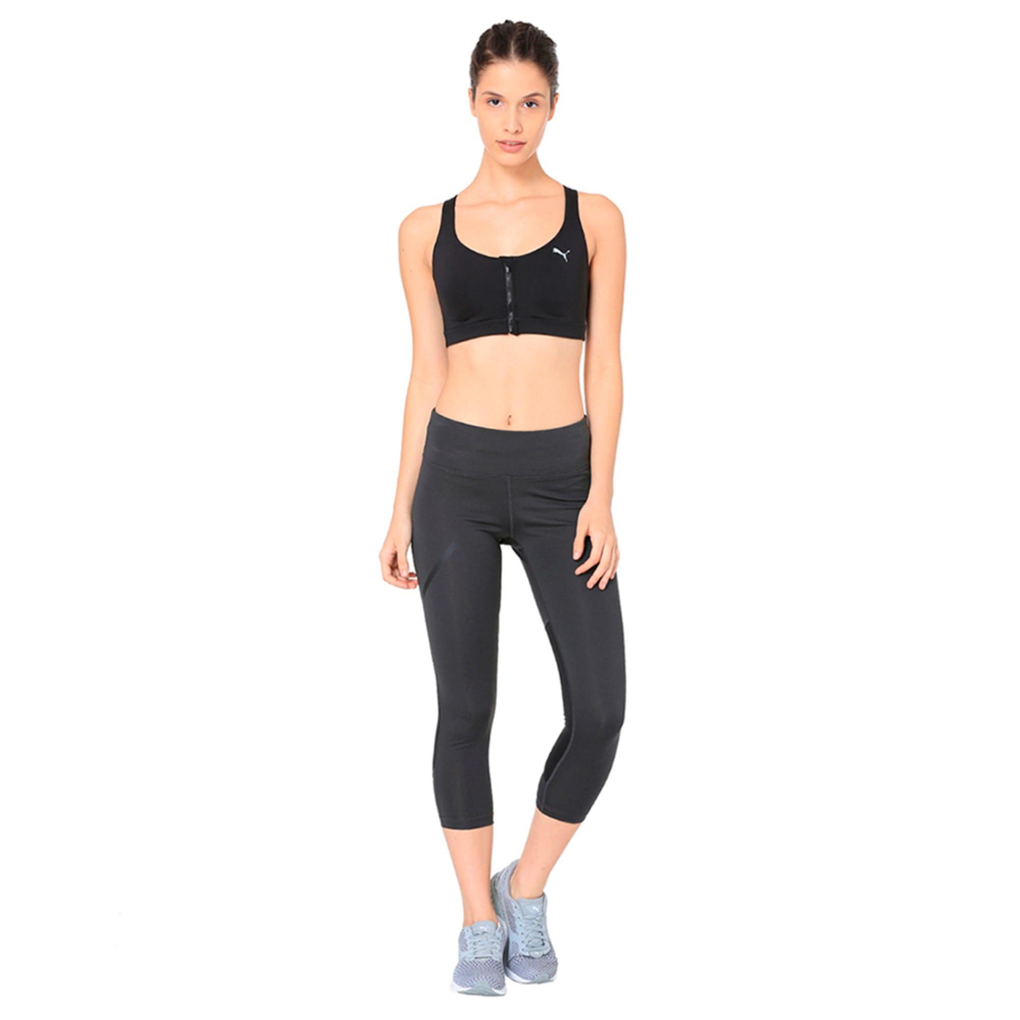 Thumbnail 6 of Speed 3/4 Women's Training Tights, Dark Gray Heather-Puma Black, medium-IND